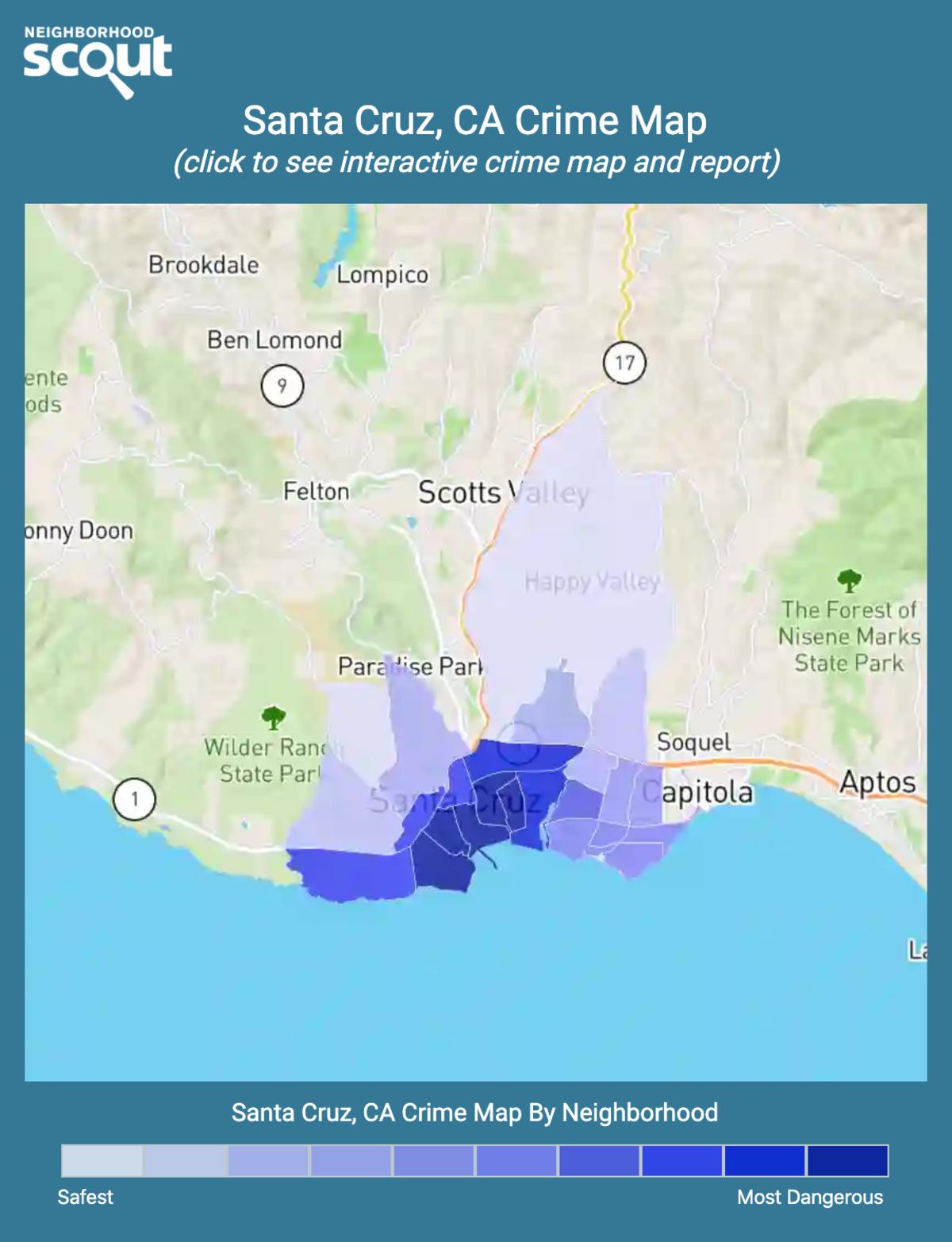 Santa Cruz, California crime map