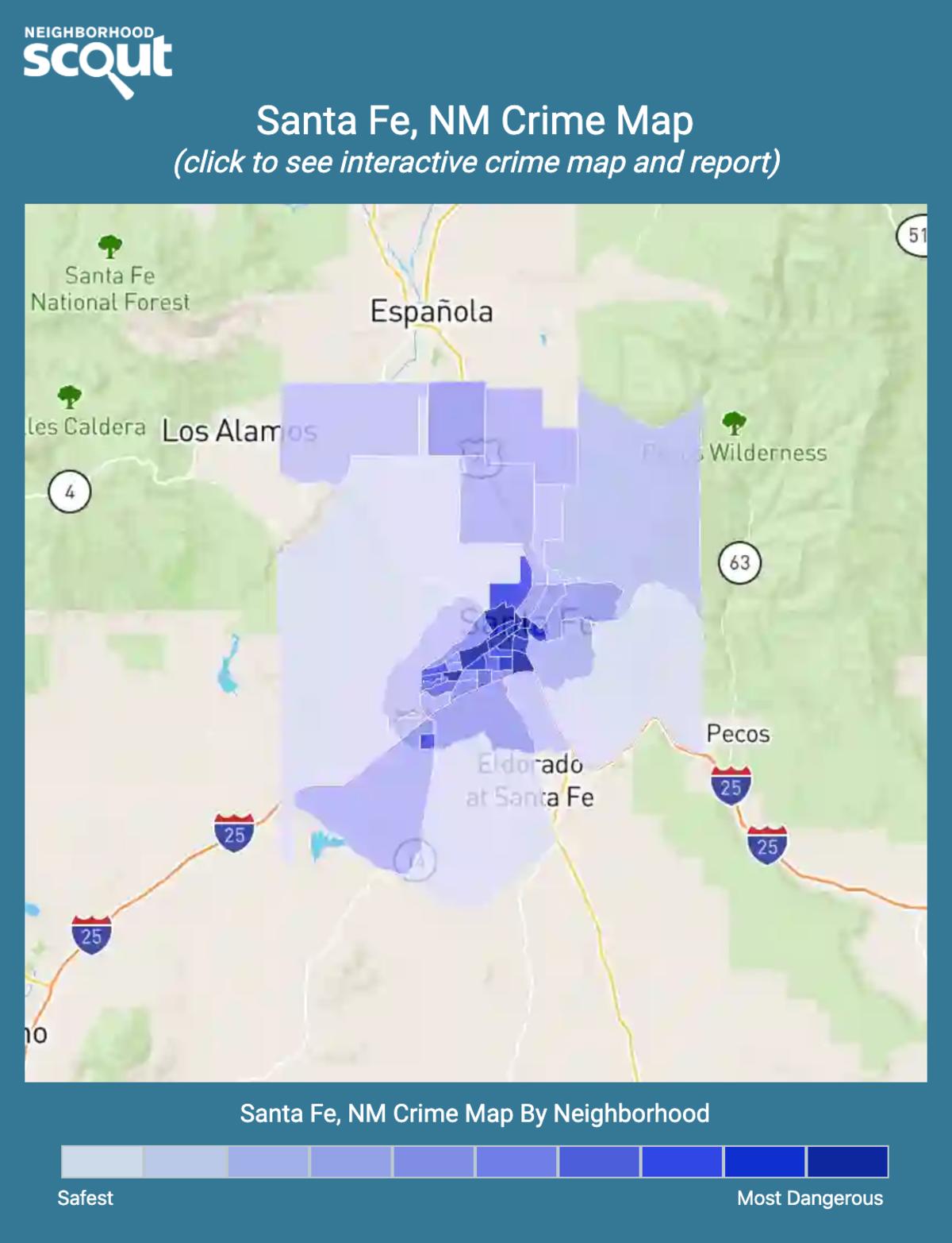 Santa Fe, New Mexico crime map