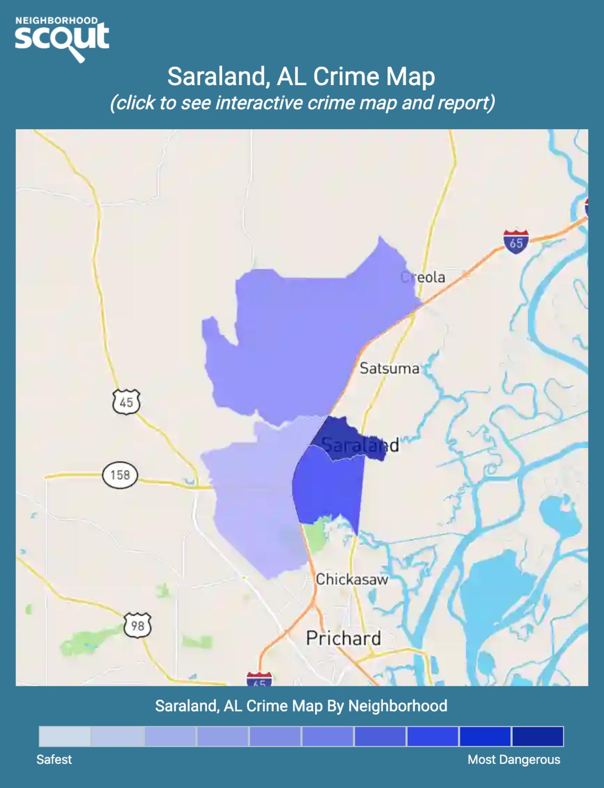 Saraland Alabama: Saraland, 36613 Crime Rates And Crime Statistics