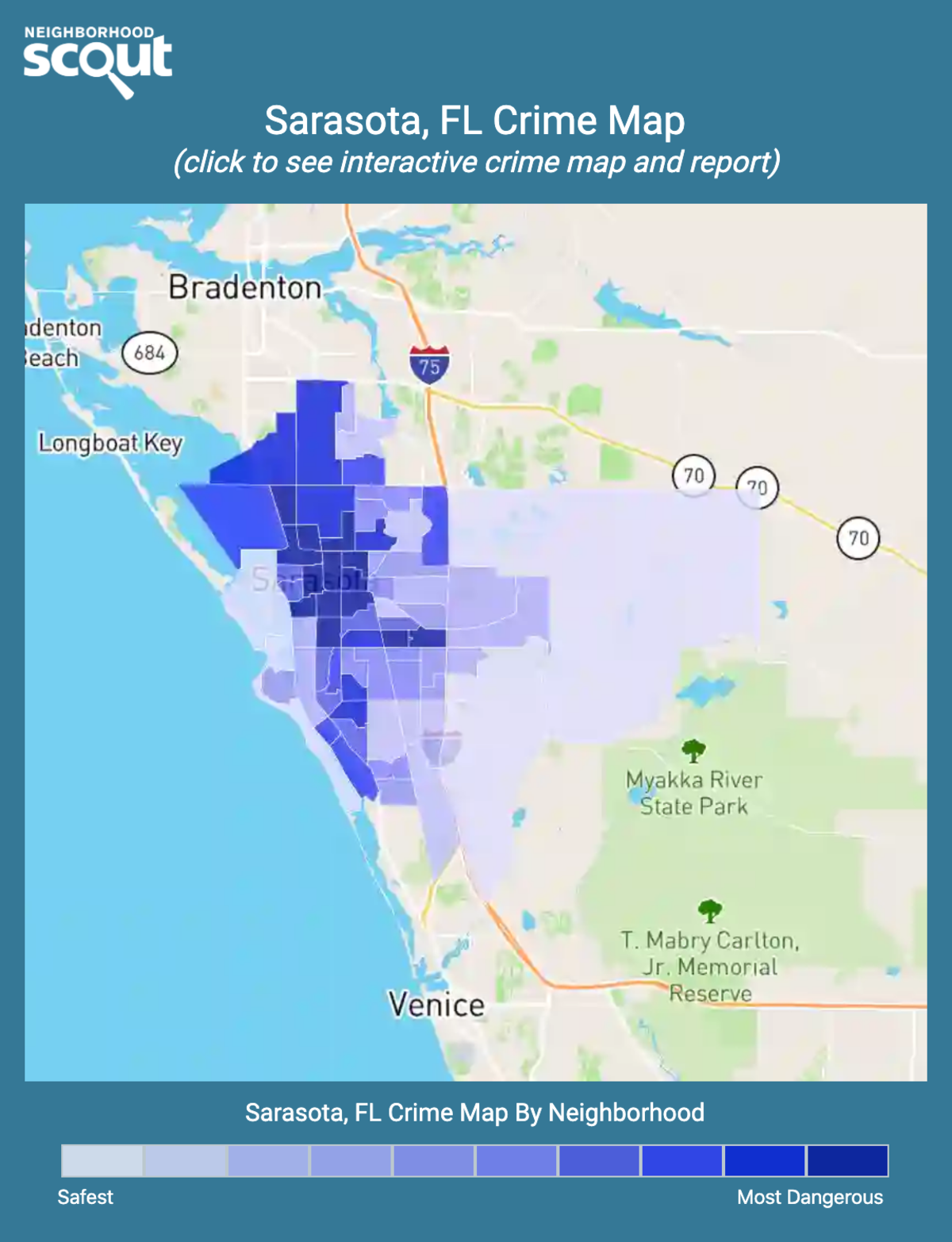 Sarasota, Florida crime map