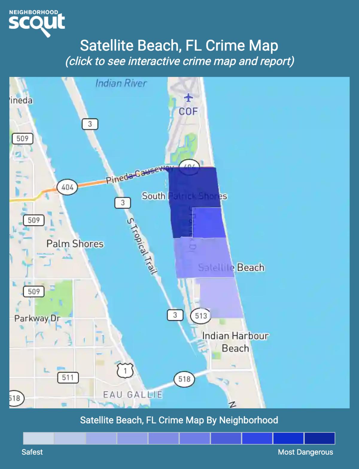 Satellite Beach, Florida crime map