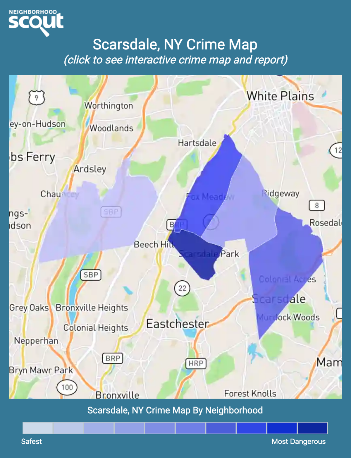 Scarsdale, New York crime map