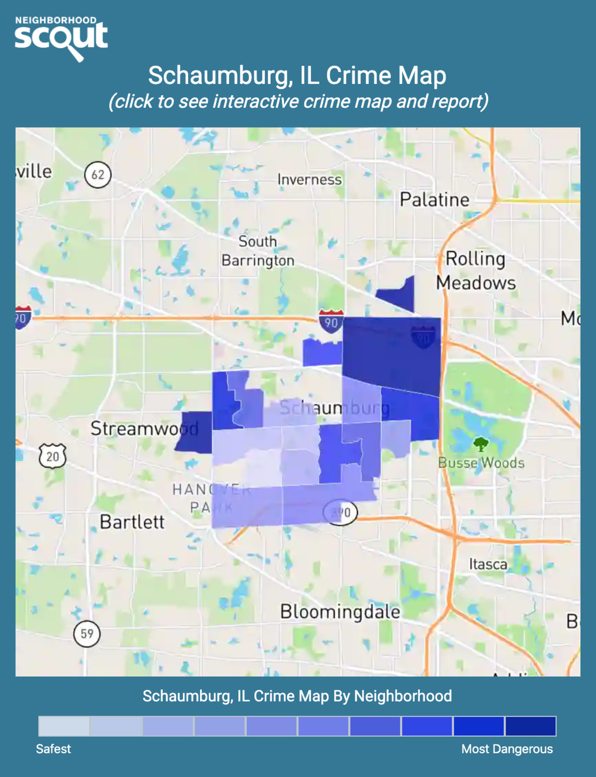 Schaumburg, Illinois crime map