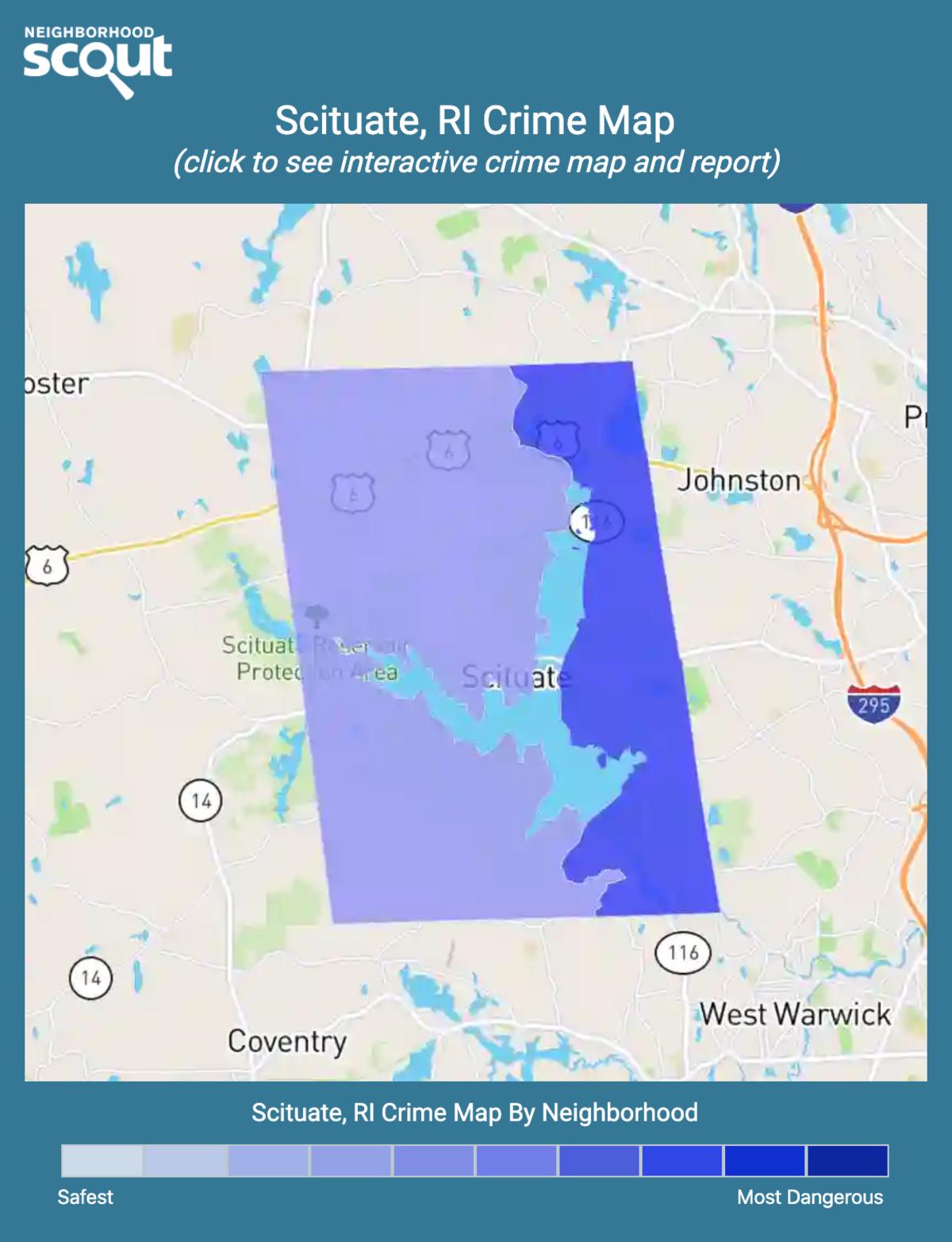 Scituate, Rhode Island crime map