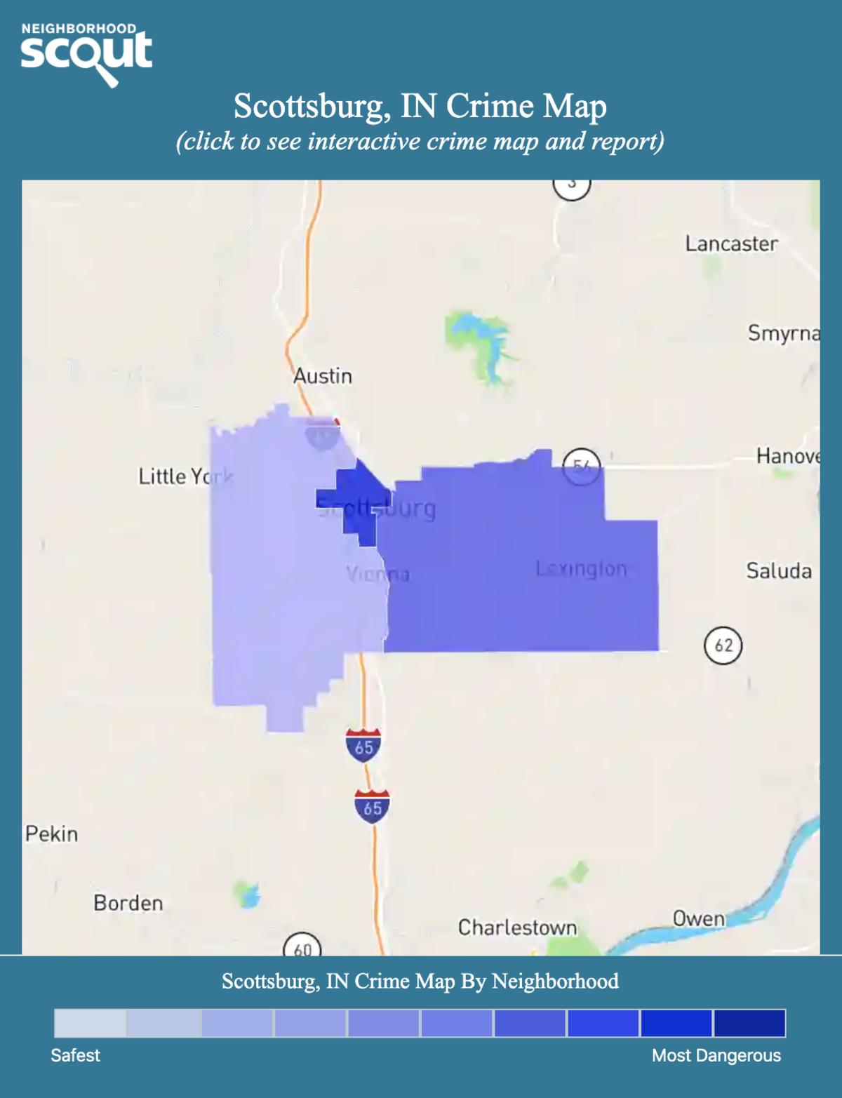 Scottsburg, Indiana crime map