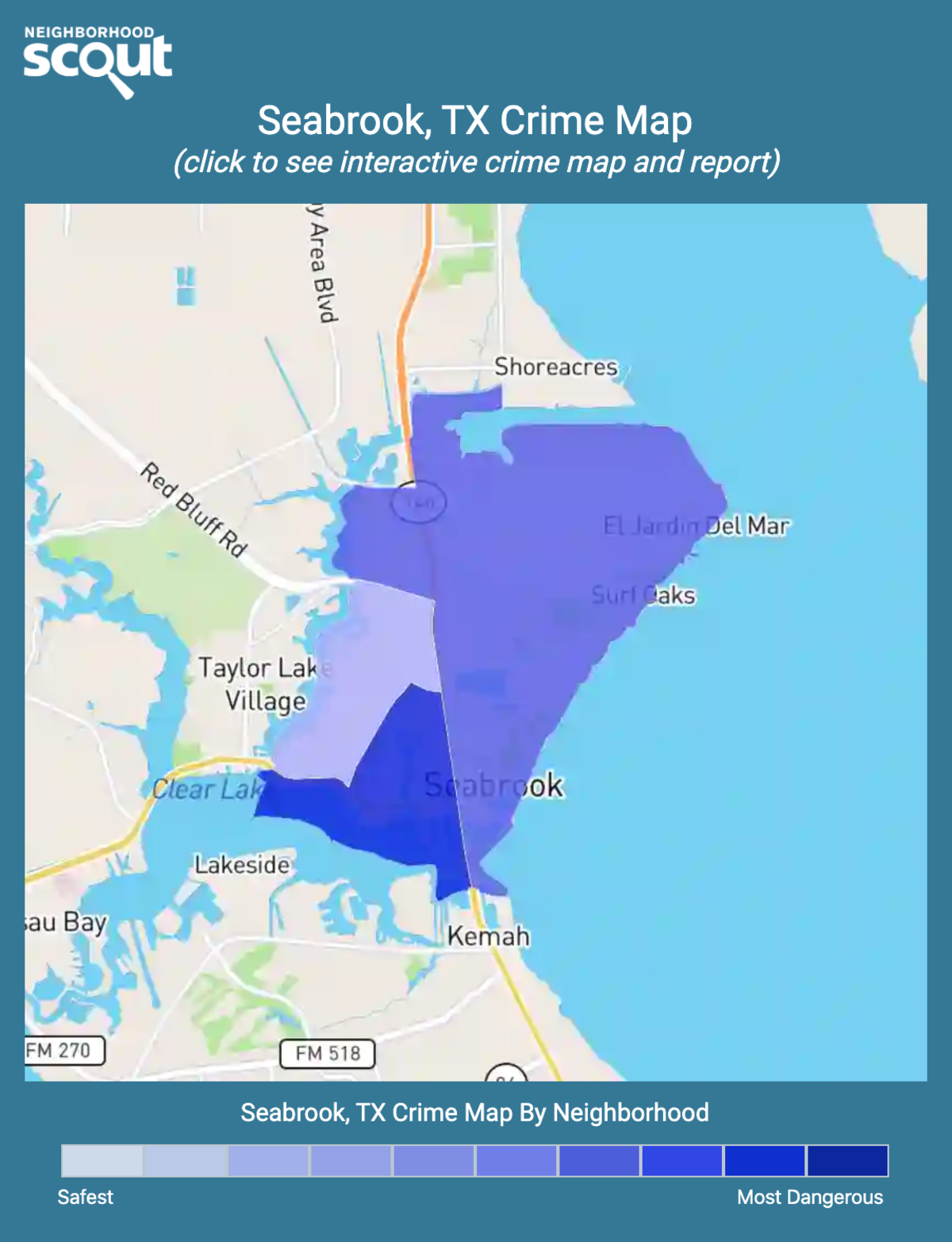 Seabrook, Texas crime map