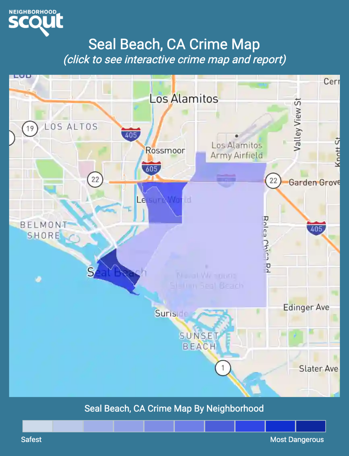 Seal Beach, California crime map