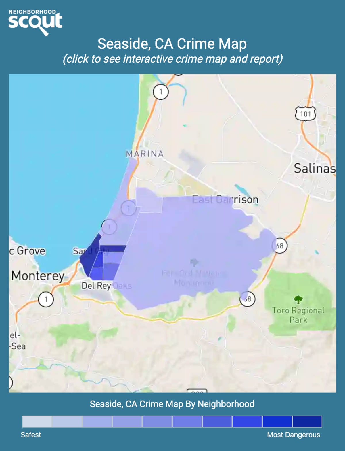 Seaside, California crime map