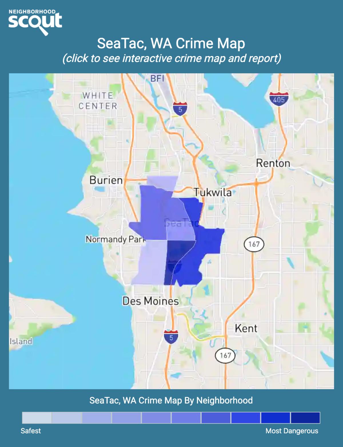 SeaTac, Washington crime map