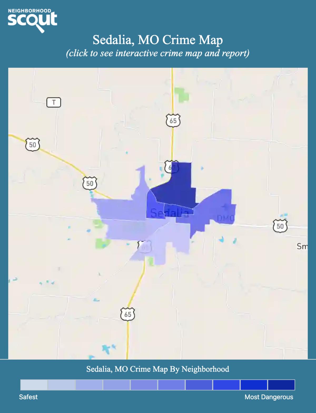 Sedalia, Missouri crime map