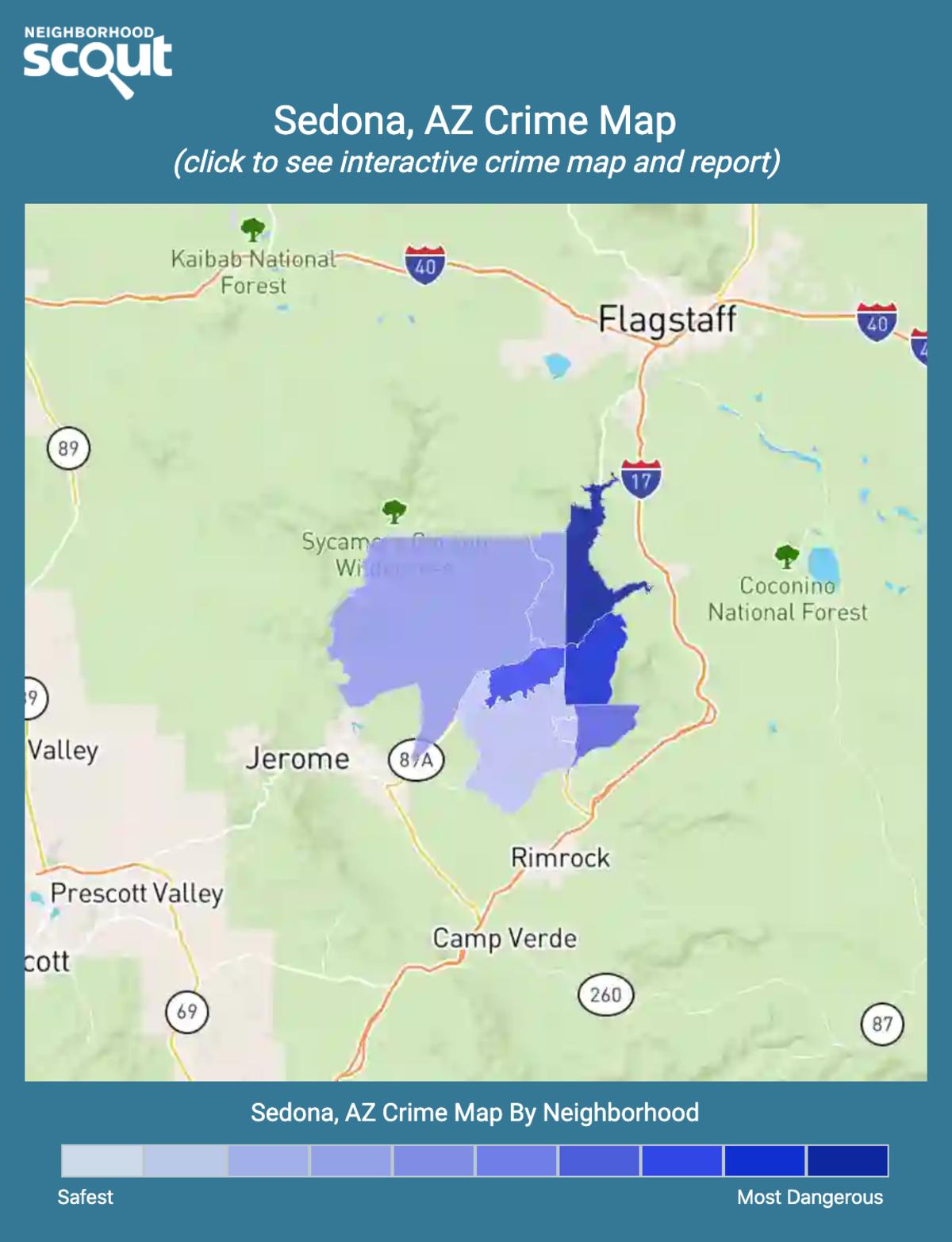 Sedona, Arizona crime map