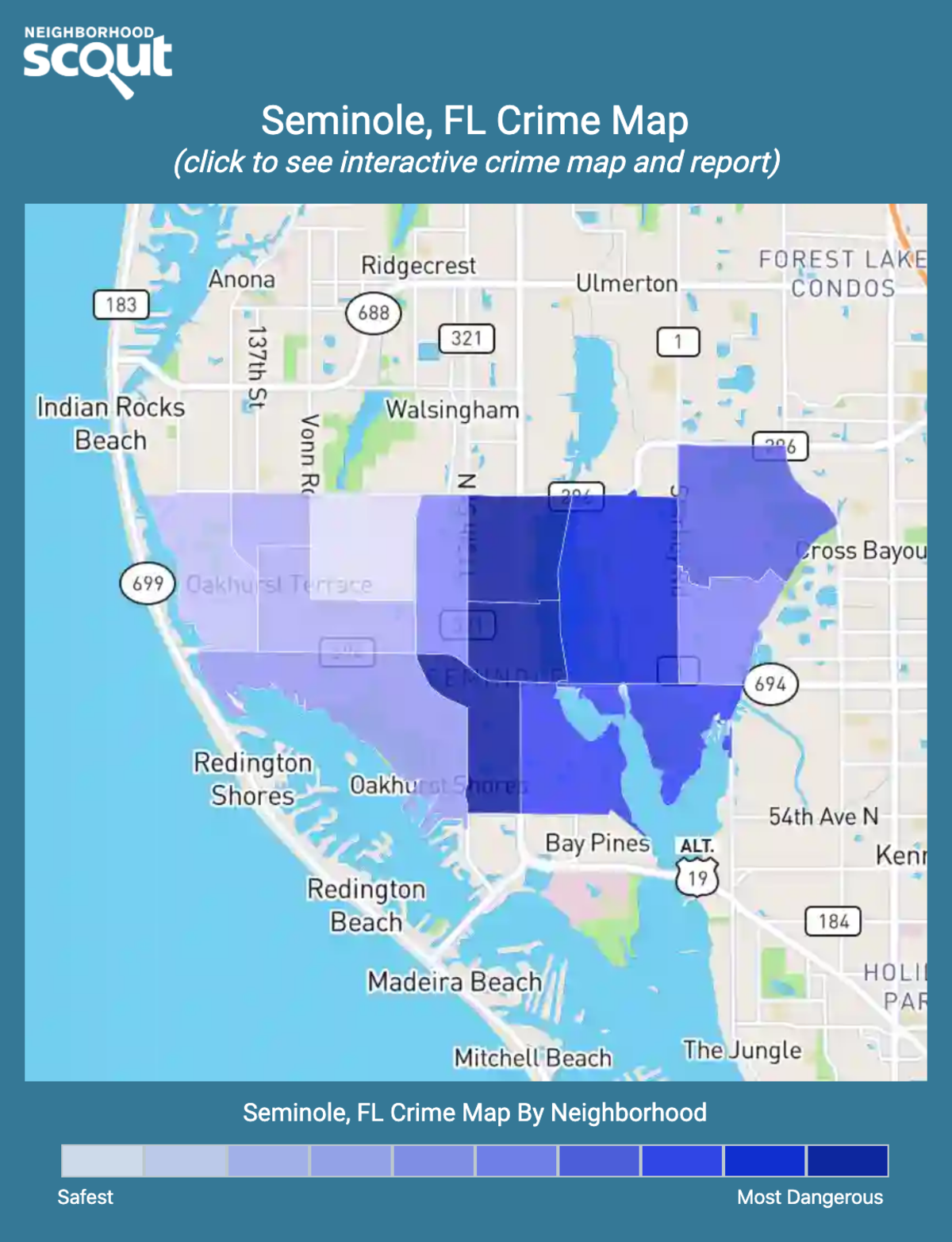 Seminole, Florida crime map