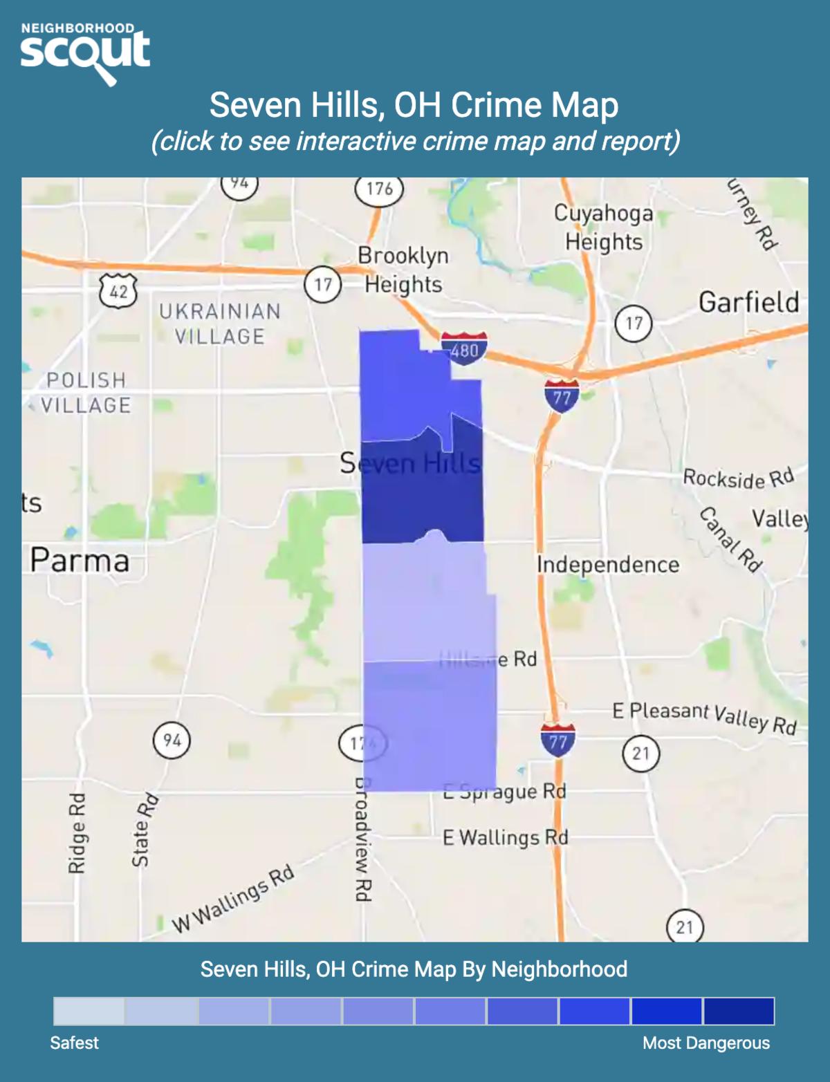 Seven Hills, Ohio crime map