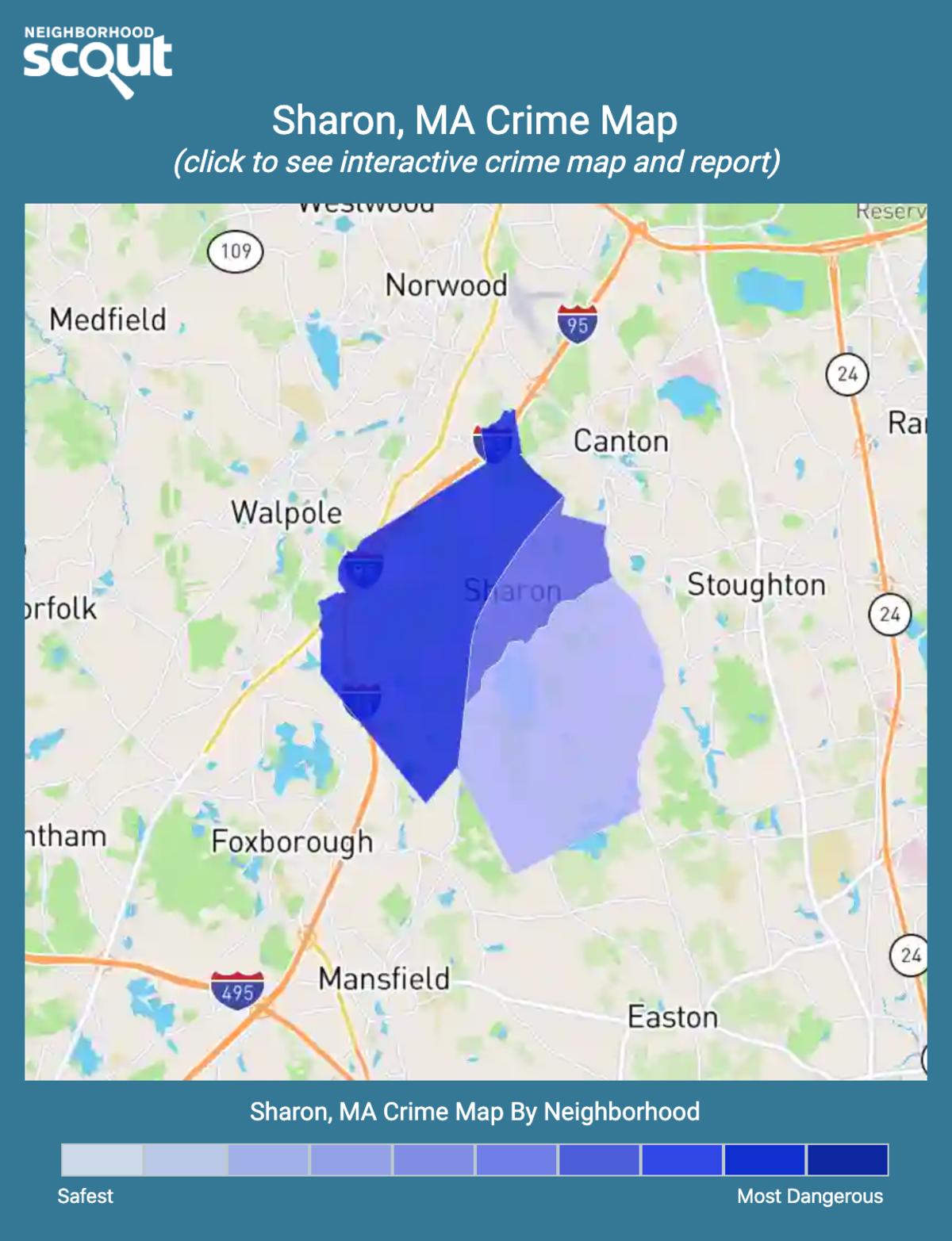 Sharon, Massachusetts crime map