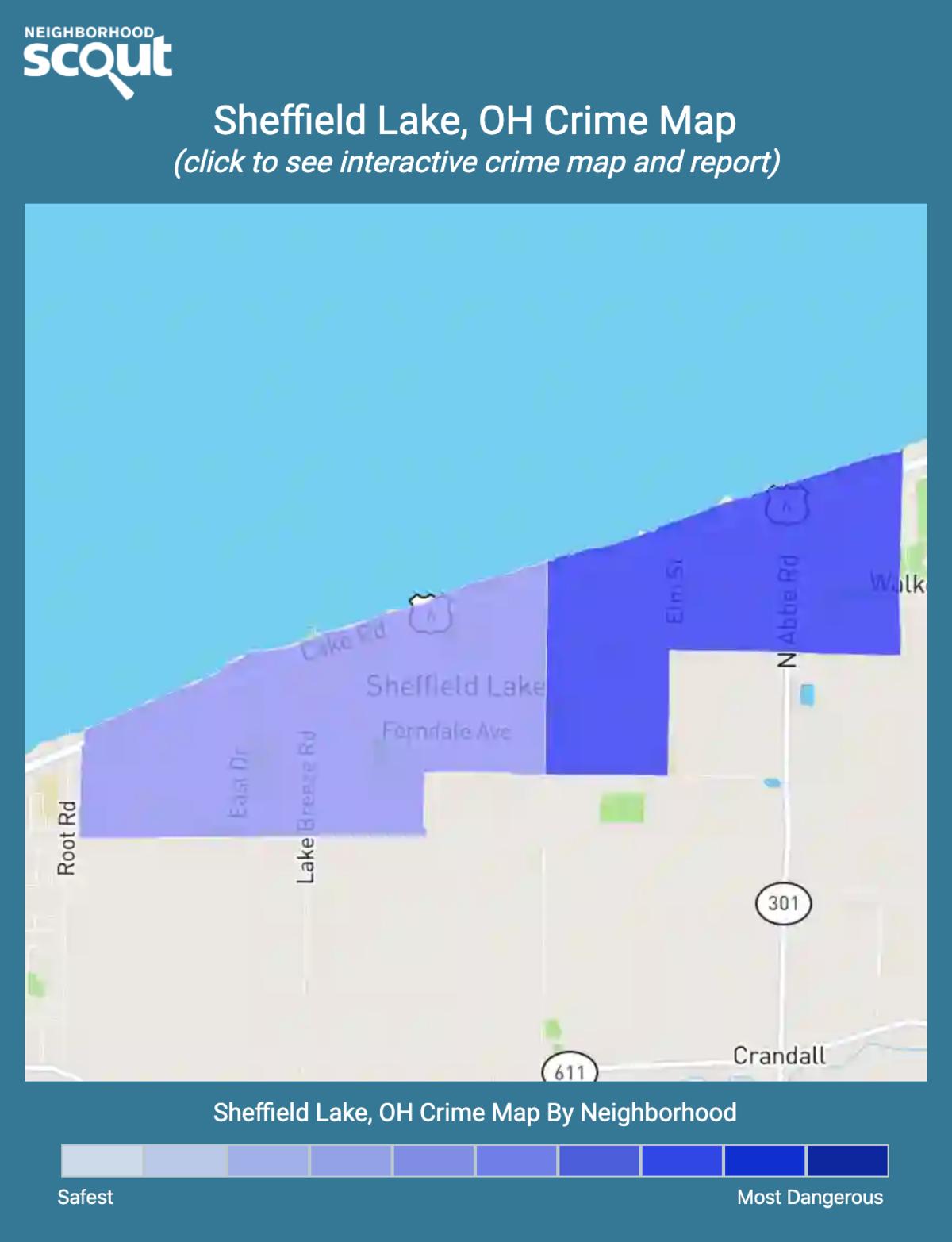Sheffield Lake, Ohio crime map