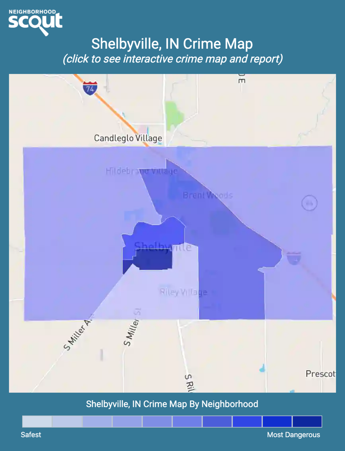 Shelbyville, Indiana crime map