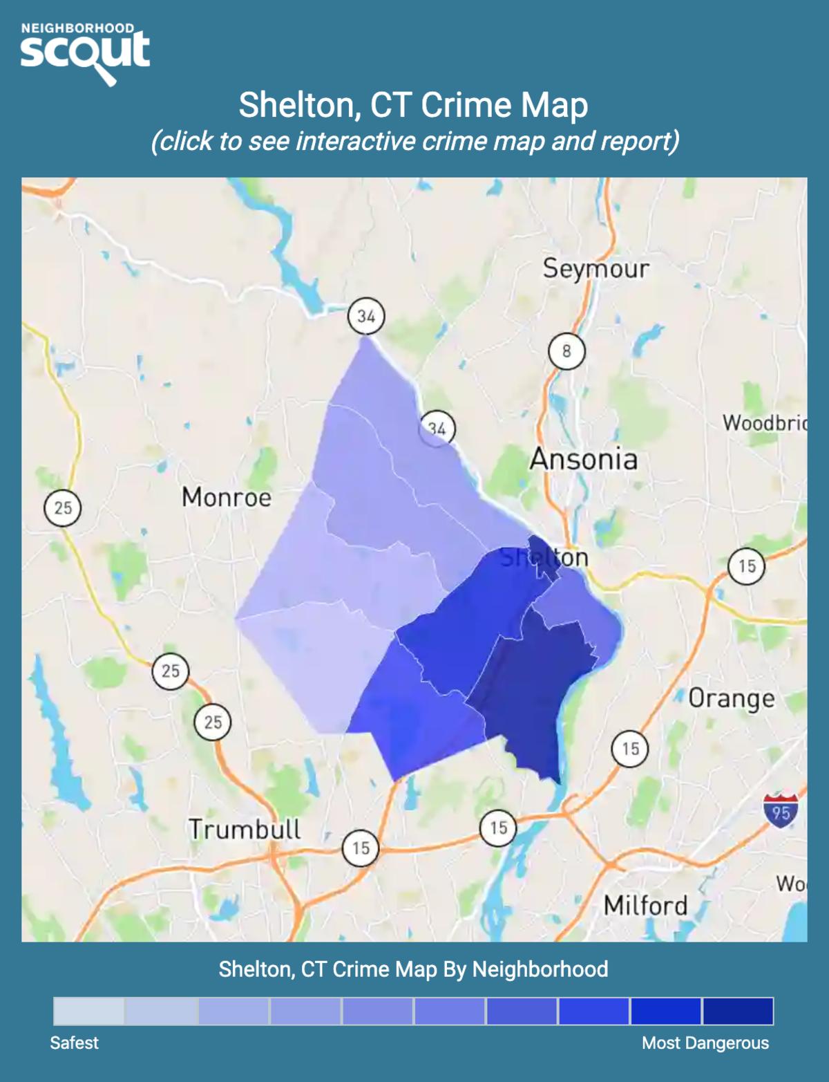 Shelton, Connecticut crime map