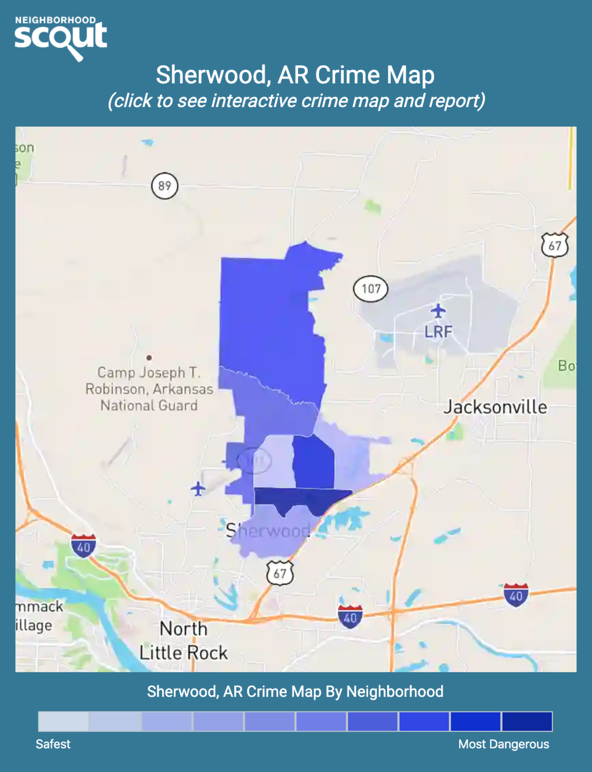 Sherwood, Arkansas crime map