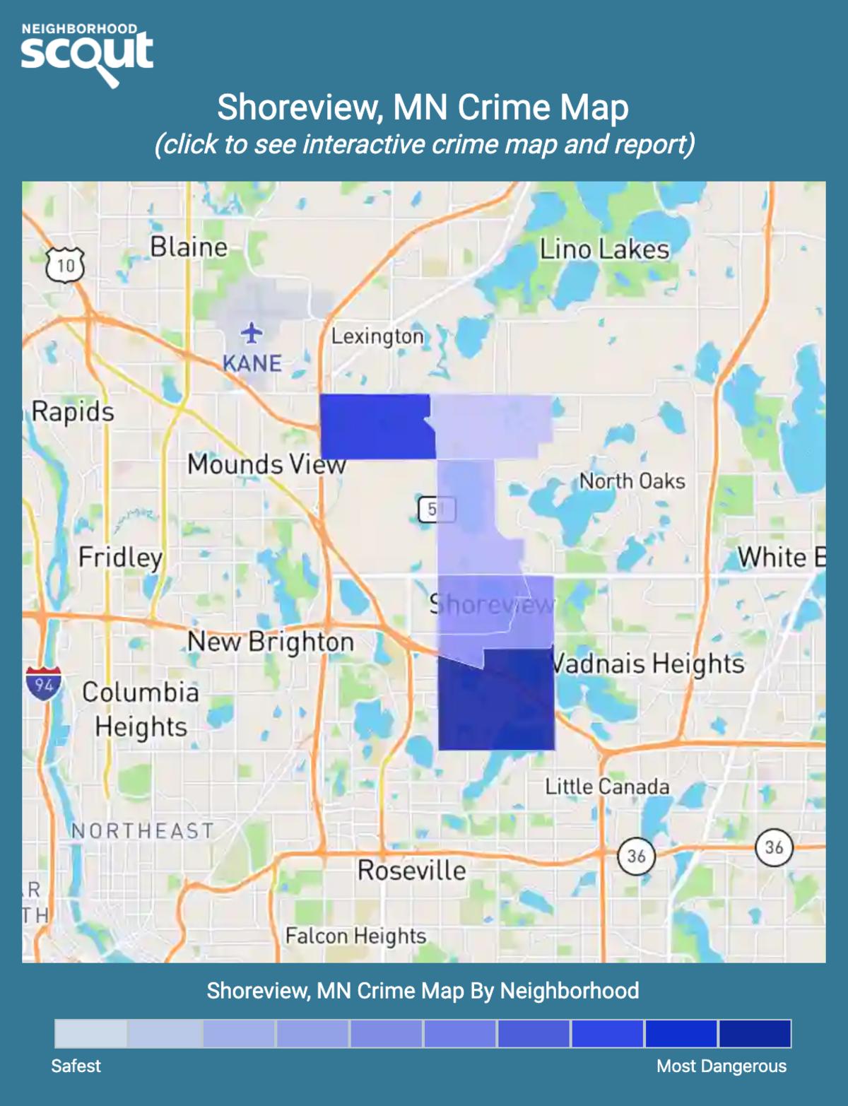 Shoreview, Minnesota crime map