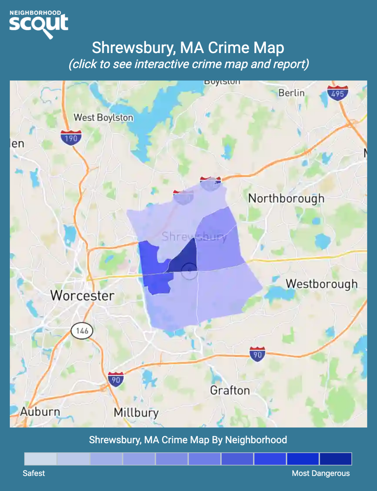 Shrewsbury, Massachusetts crime map