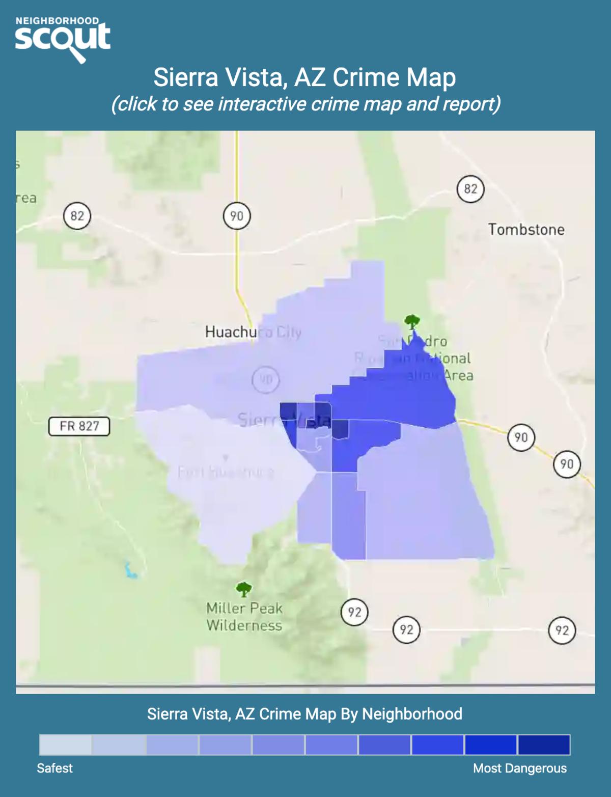 Sierra Vista, Arizona crime map