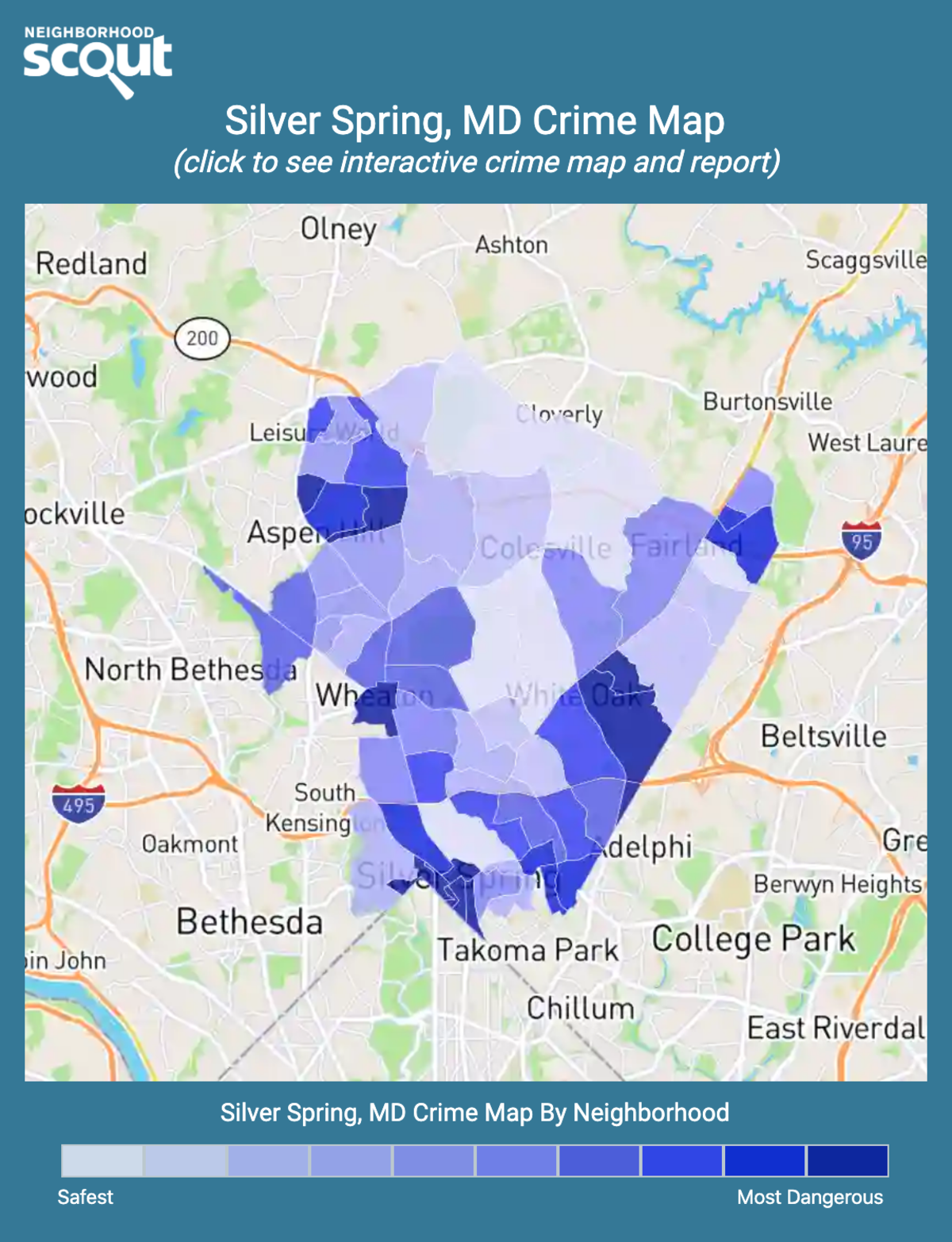 Silver Spring, Maryland crime map