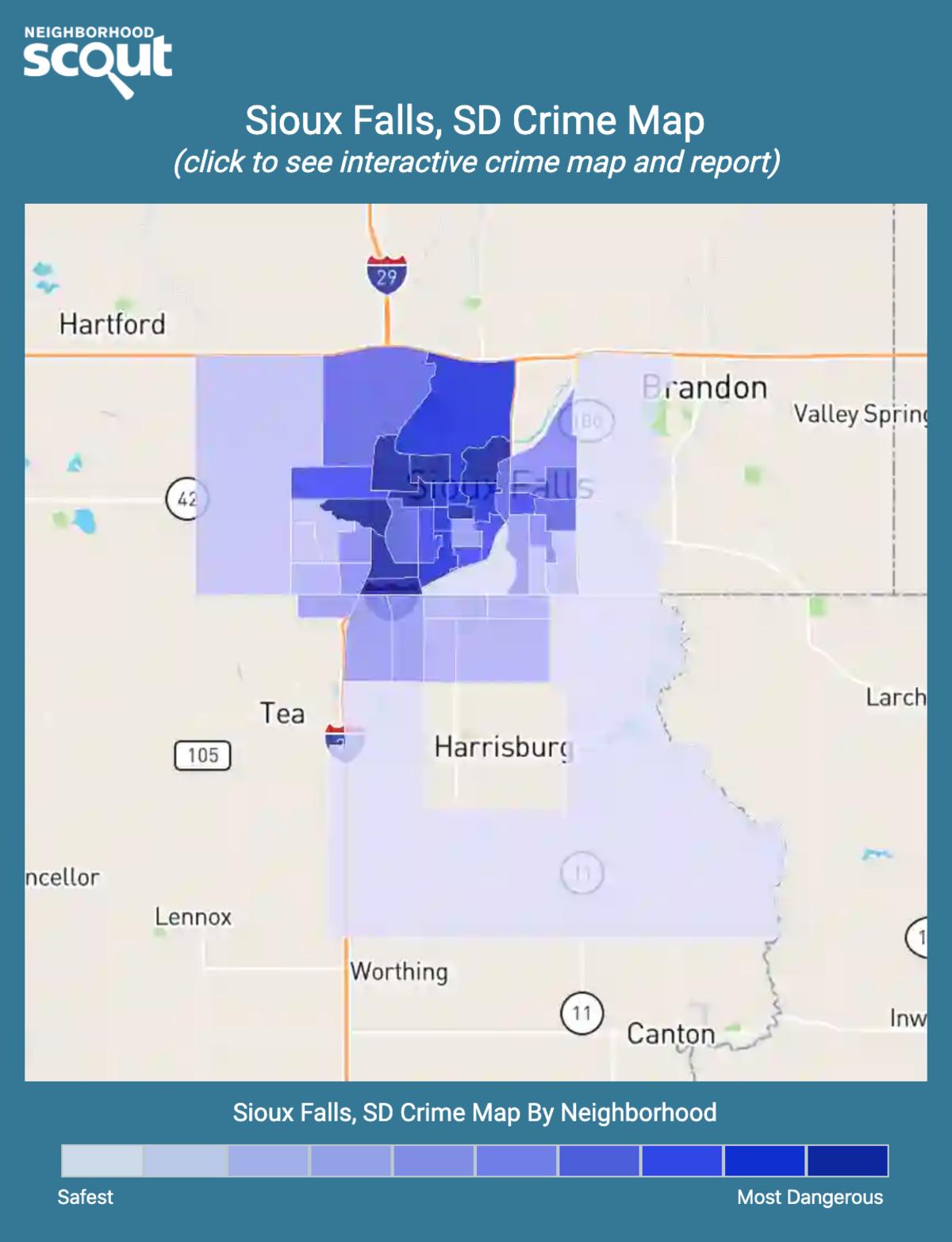 Sioux Falls, South Dakota crime map