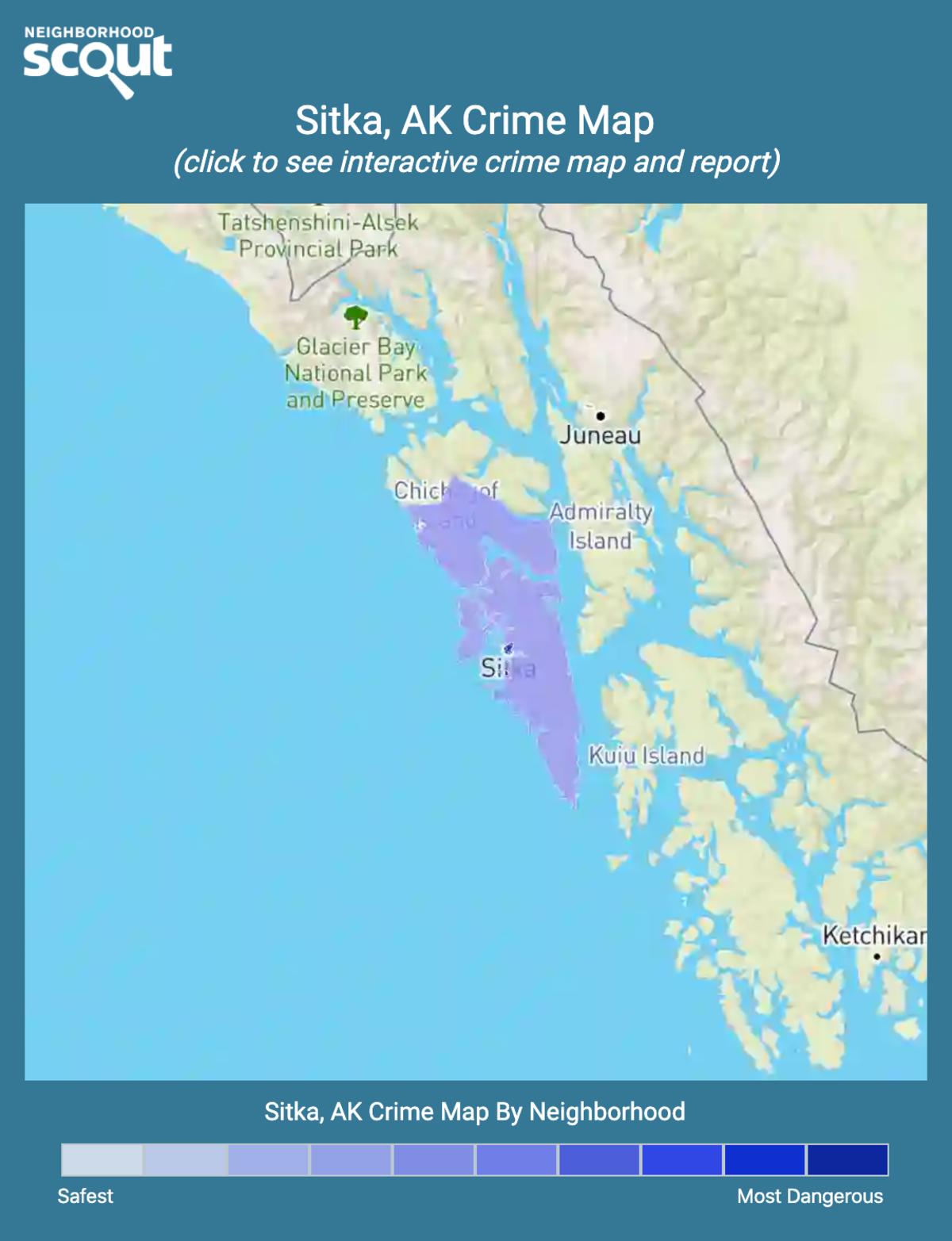 Sitka, Alaska crime map