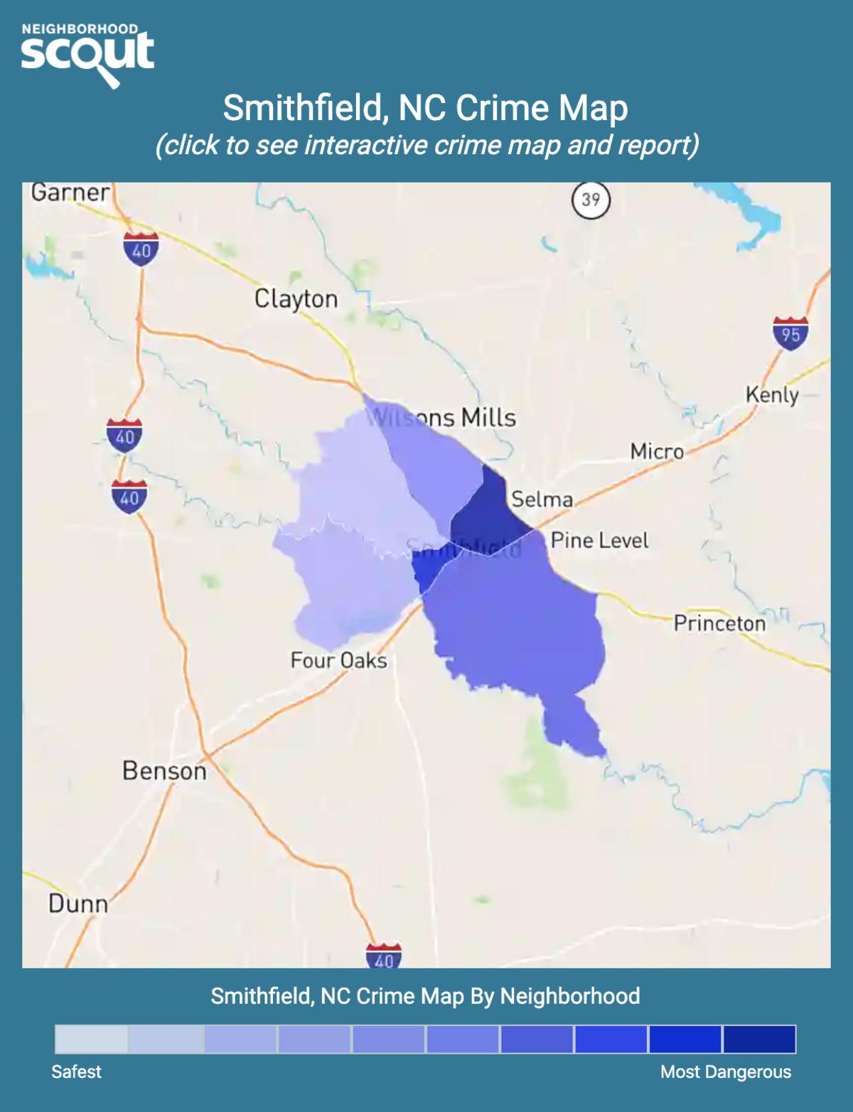 Smithfield, North Carolina crime map
