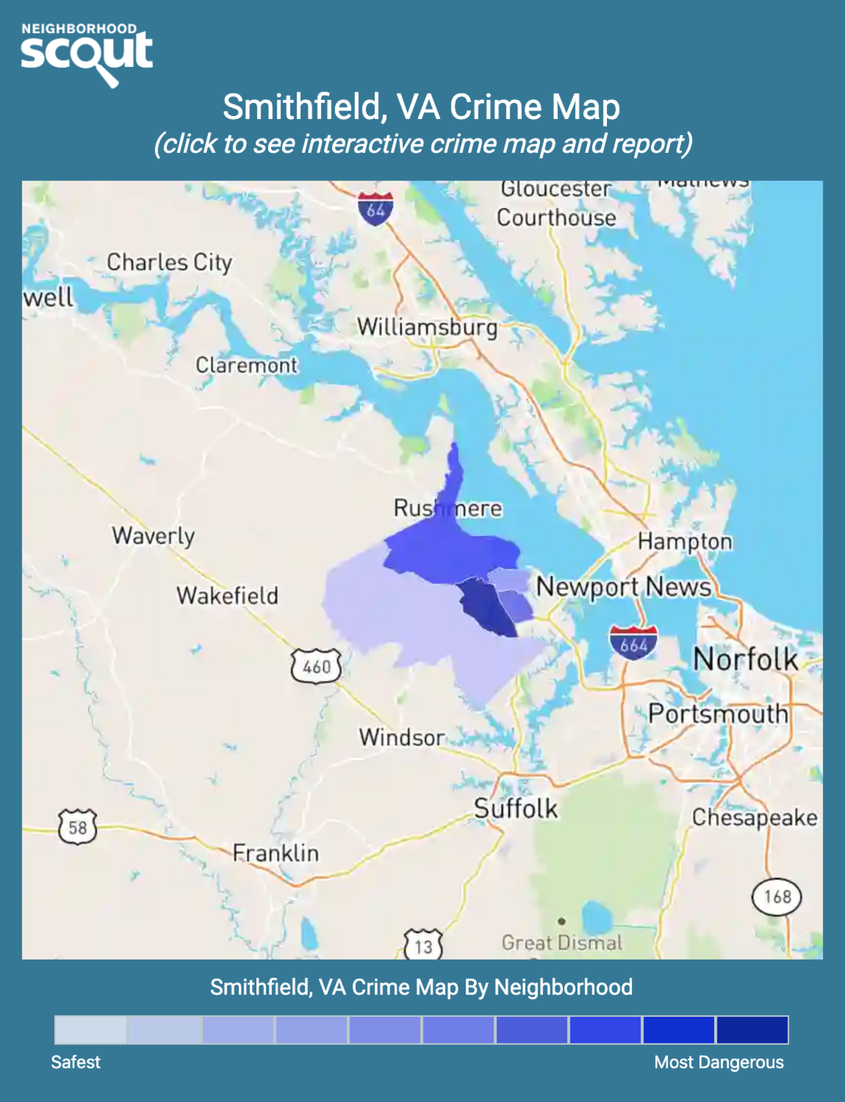 Smithfield, Virginia crime map