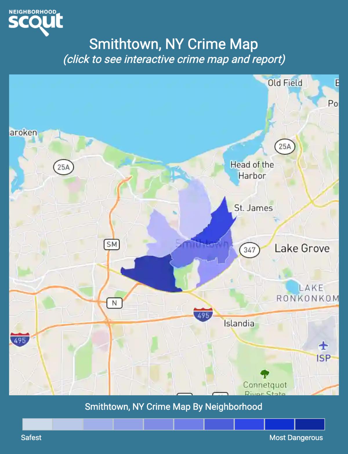Smithtown, New York crime map