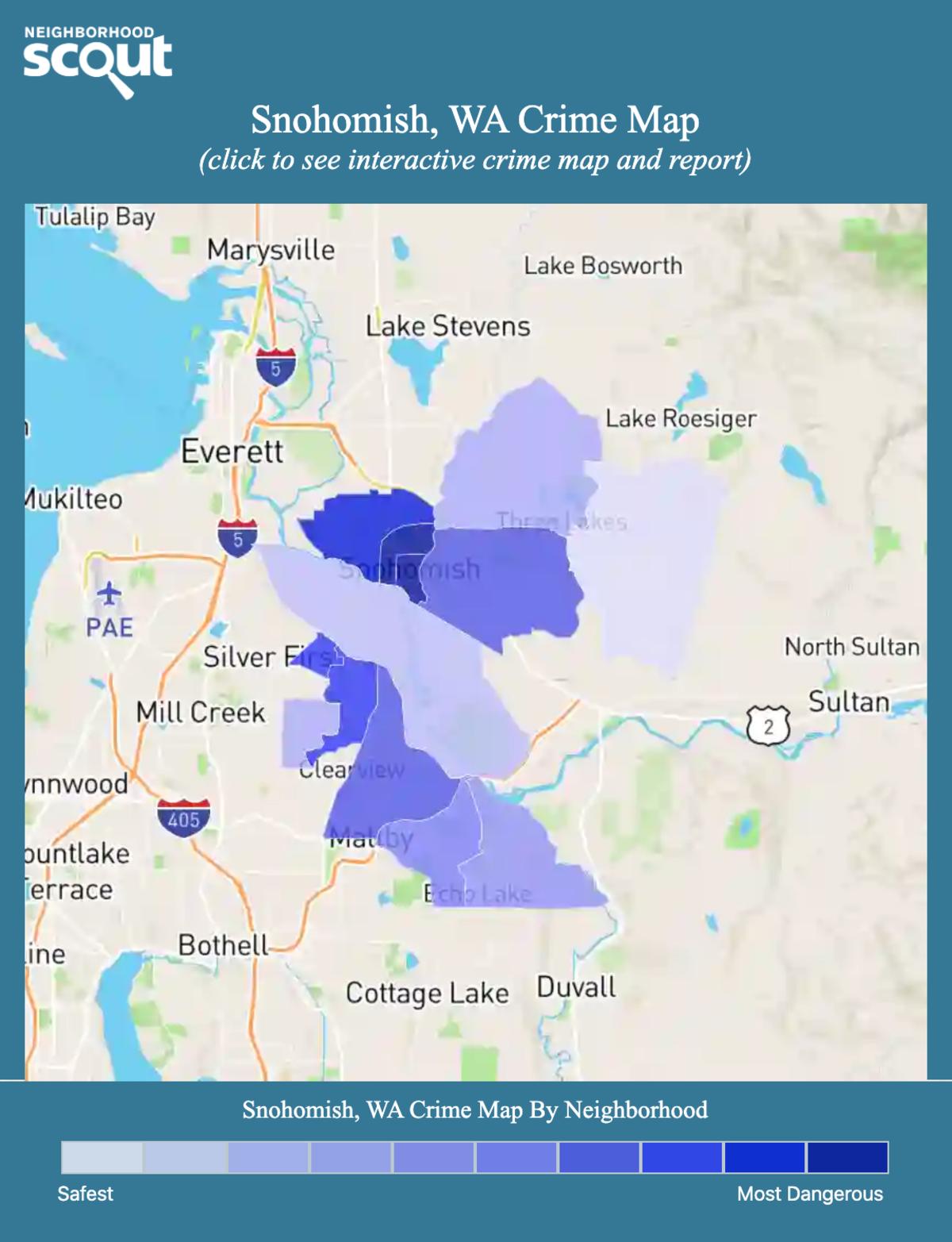 Snohomish, Washington crime map