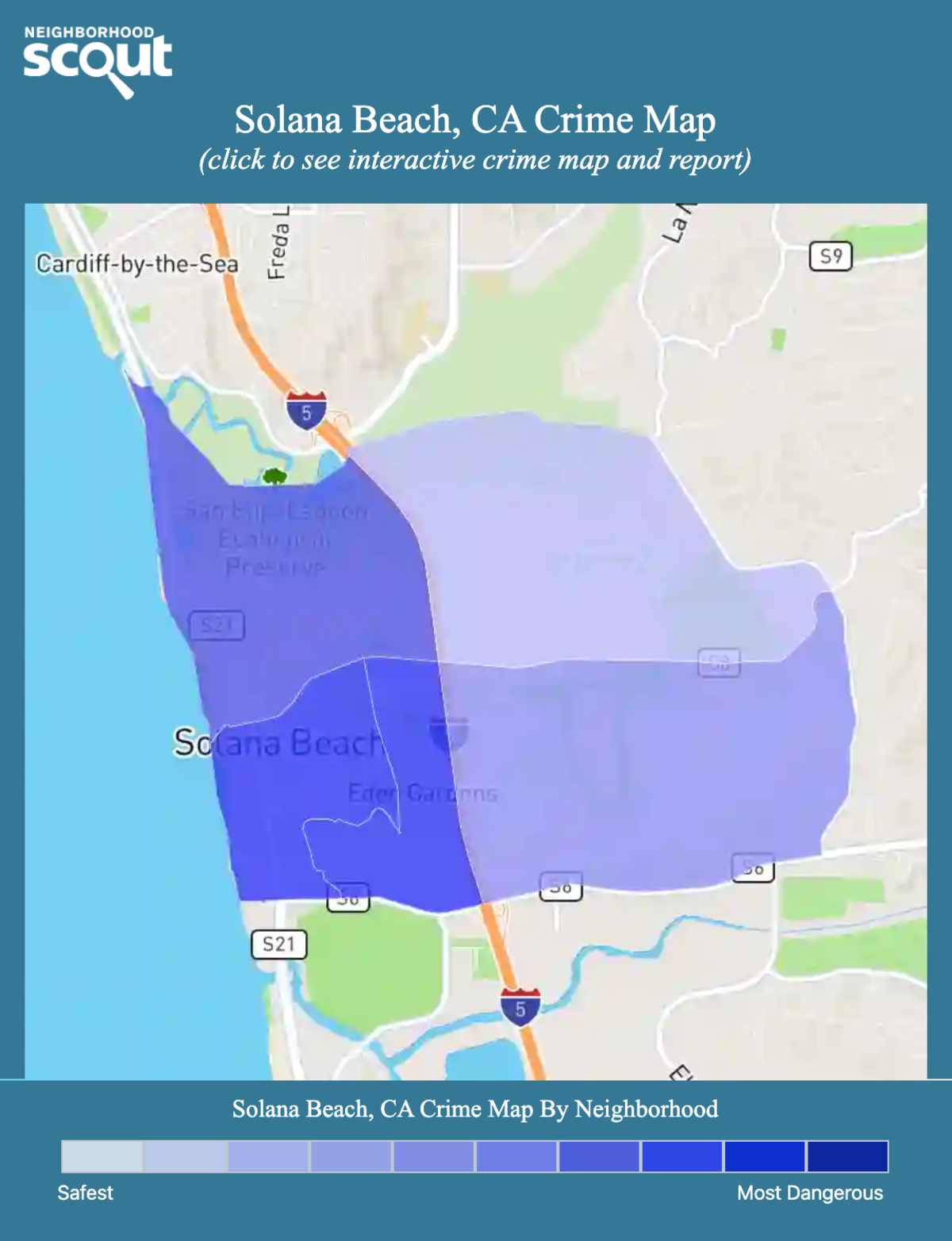 Solana Beach, California crime map