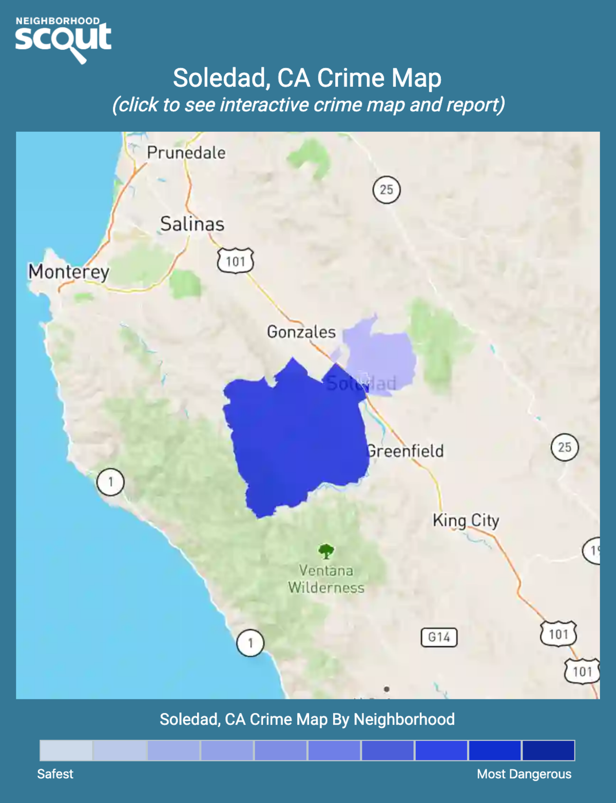 Soledad, California crime map