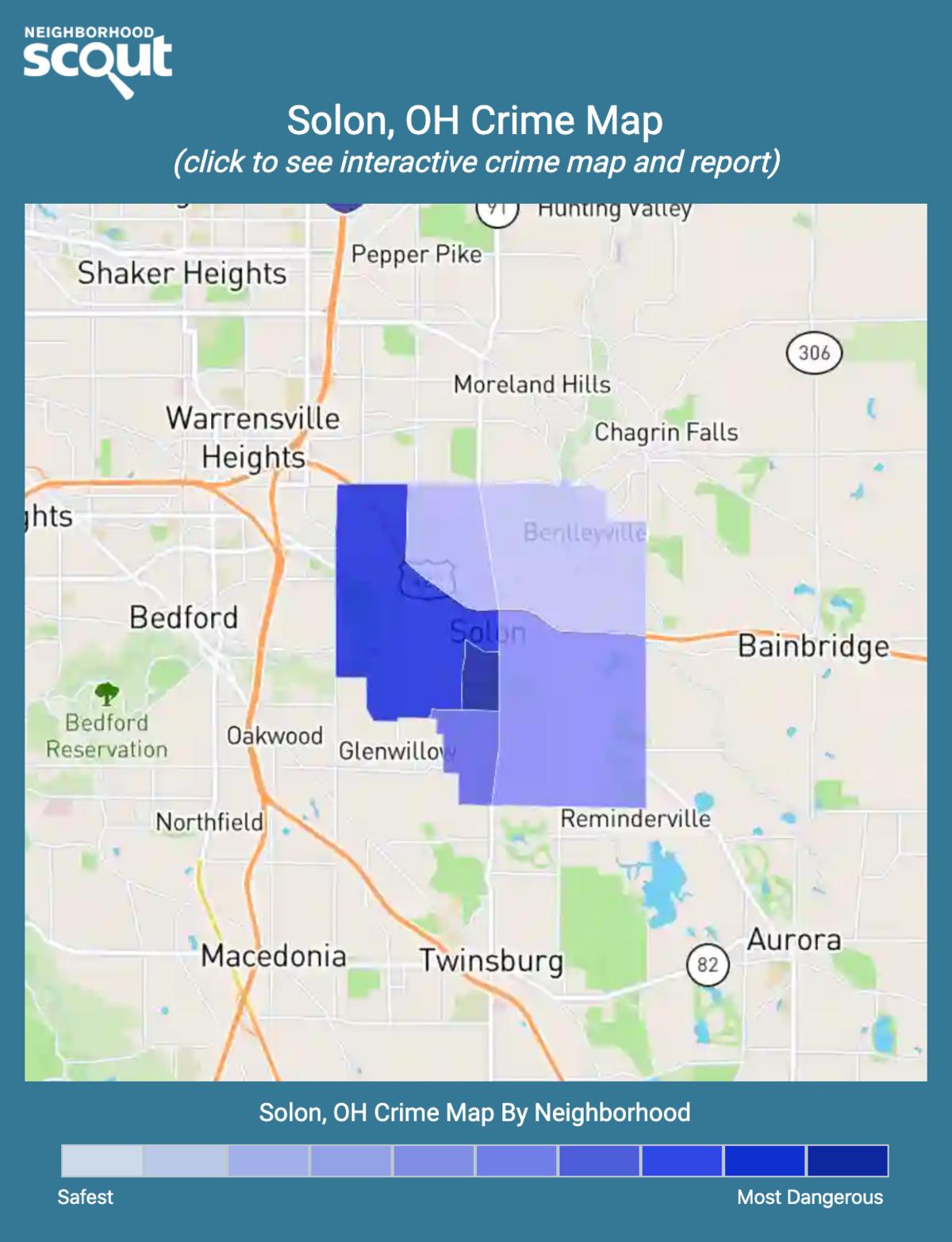 Solon, Ohio crime map