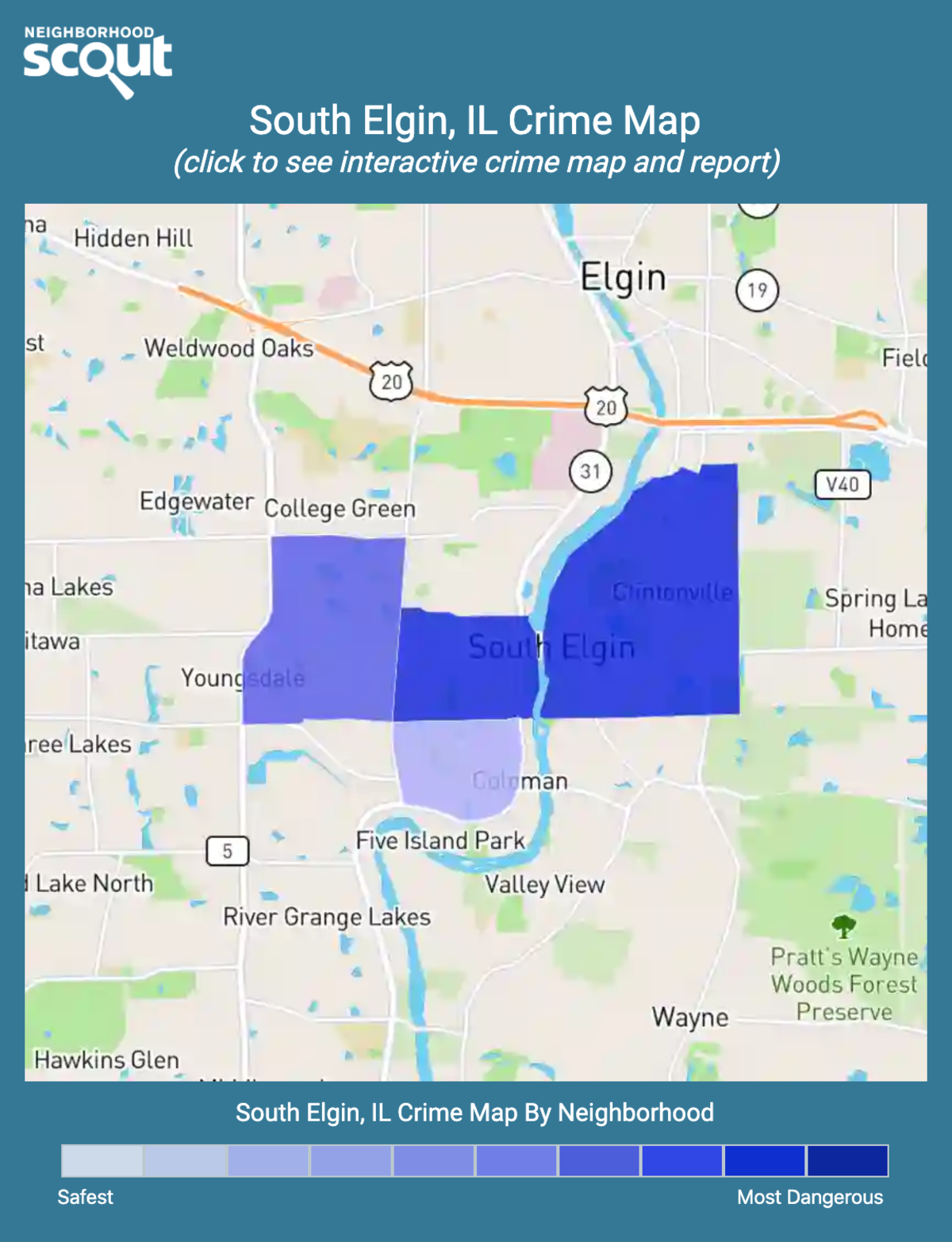 South Elgin, Illinois crime map