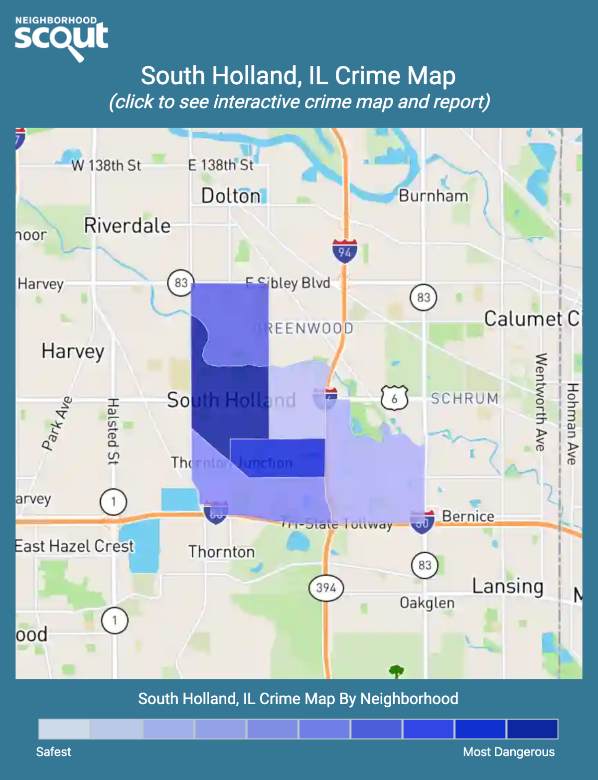 South Holland, Illinois crime map