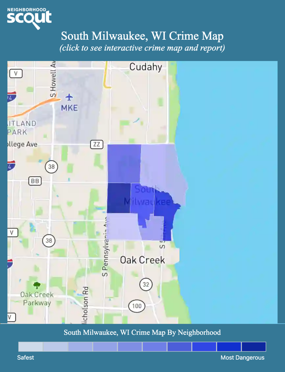South Milwaukee, Wisconsin crime map