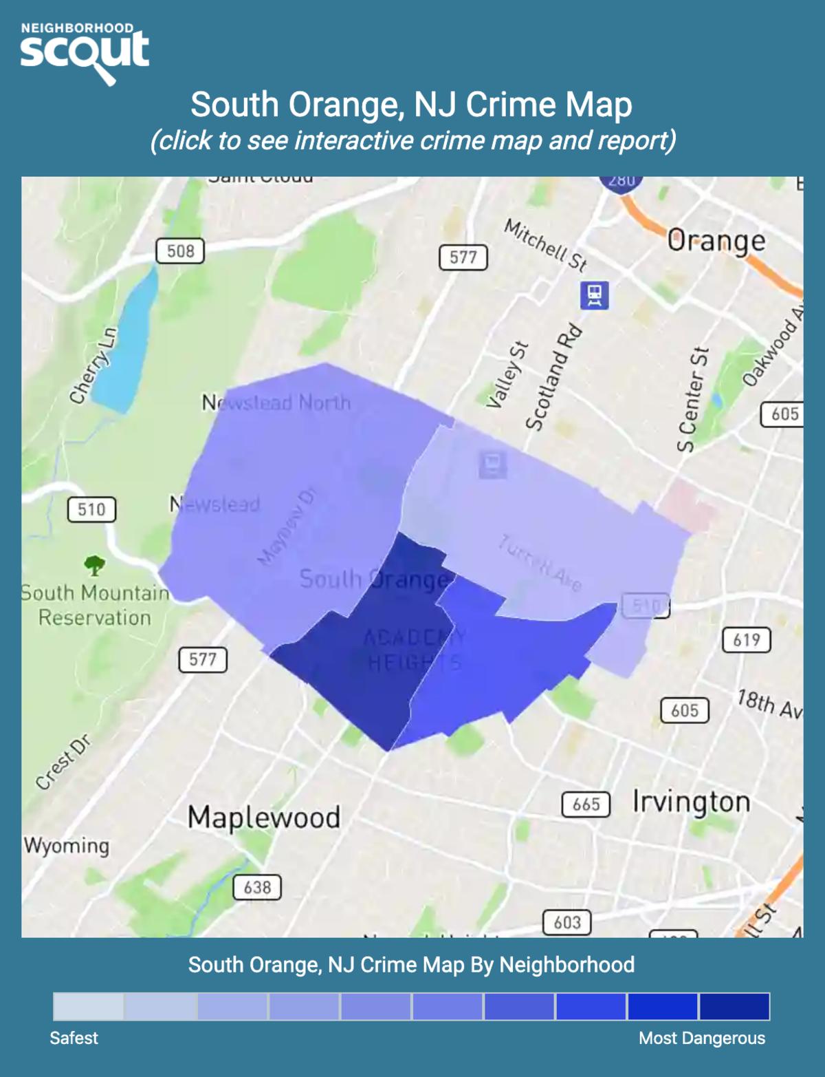 South Orange, New Jersey crime map