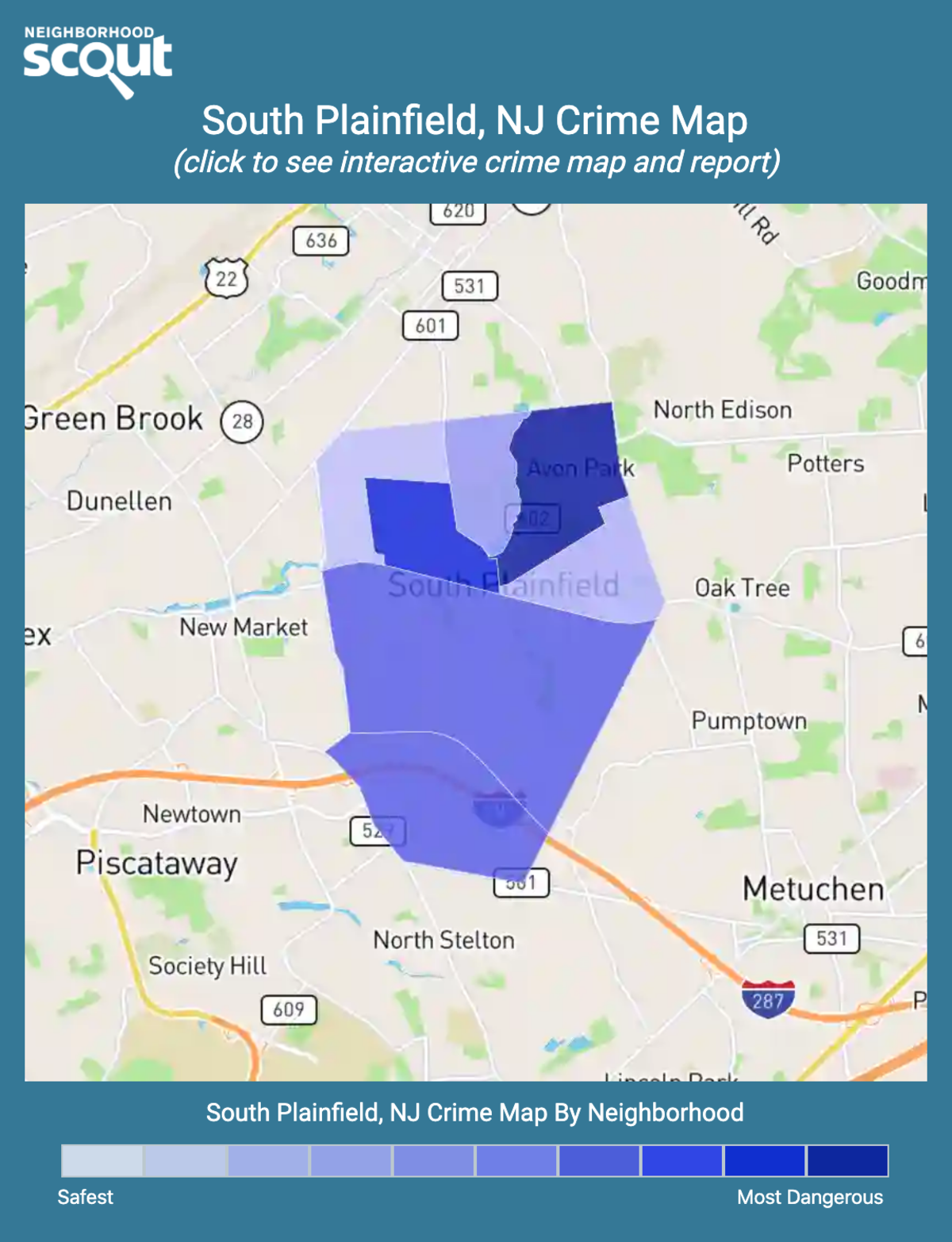 South Plainfield, New Jersey crime map