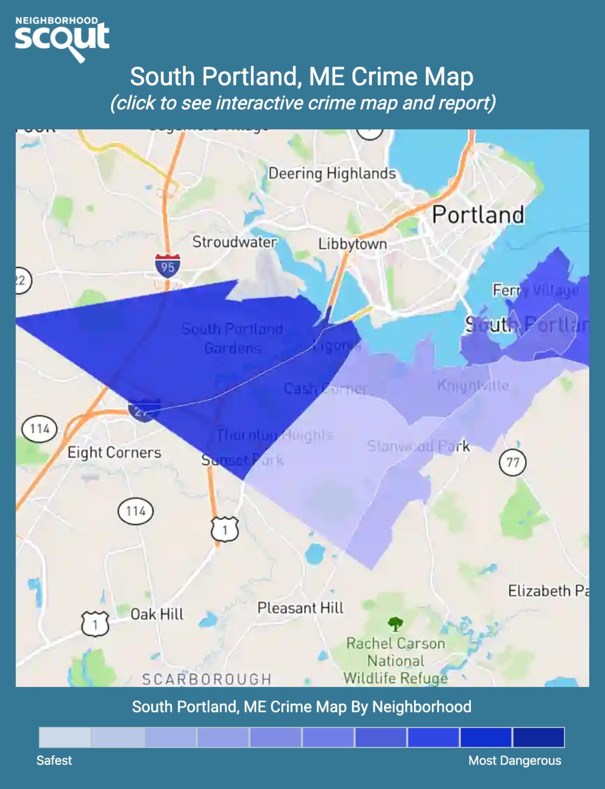 South Portland, Maine crime map