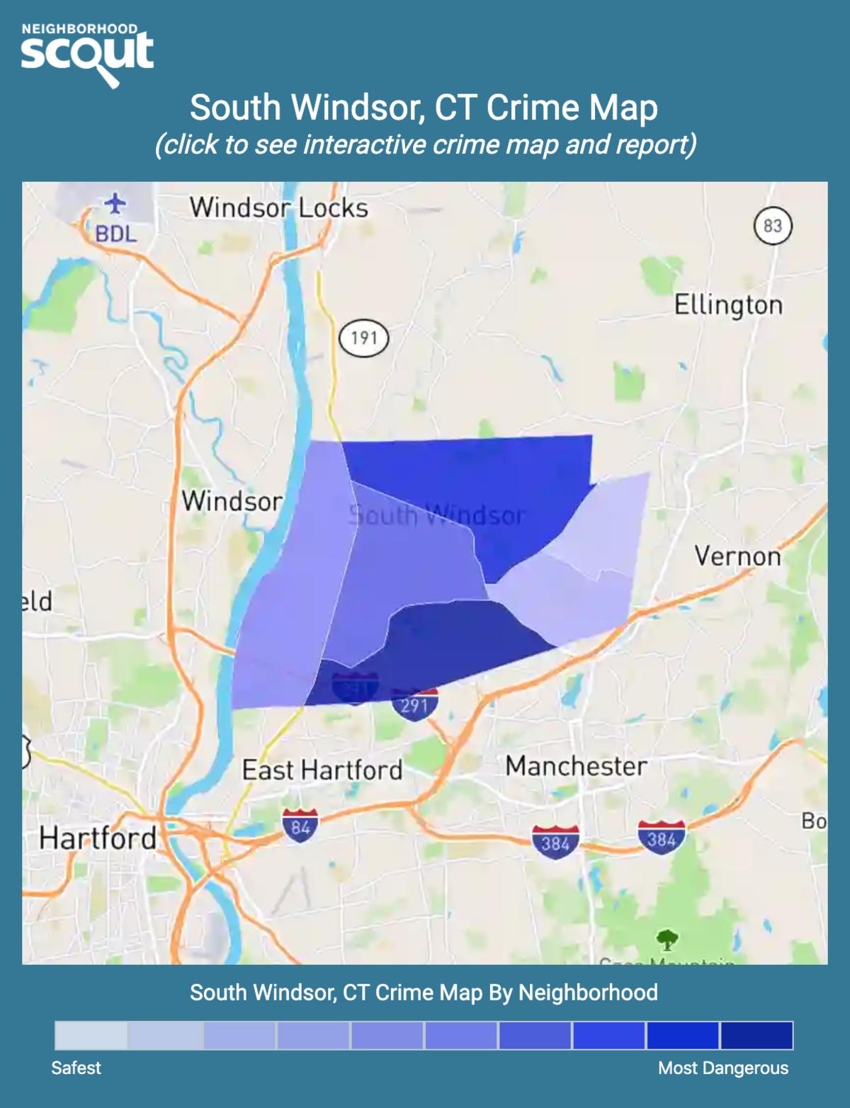 South Windsor, Connecticut crime map
