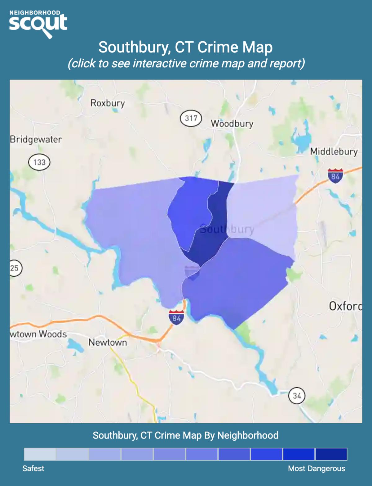 Southbury, Connecticut crime map
