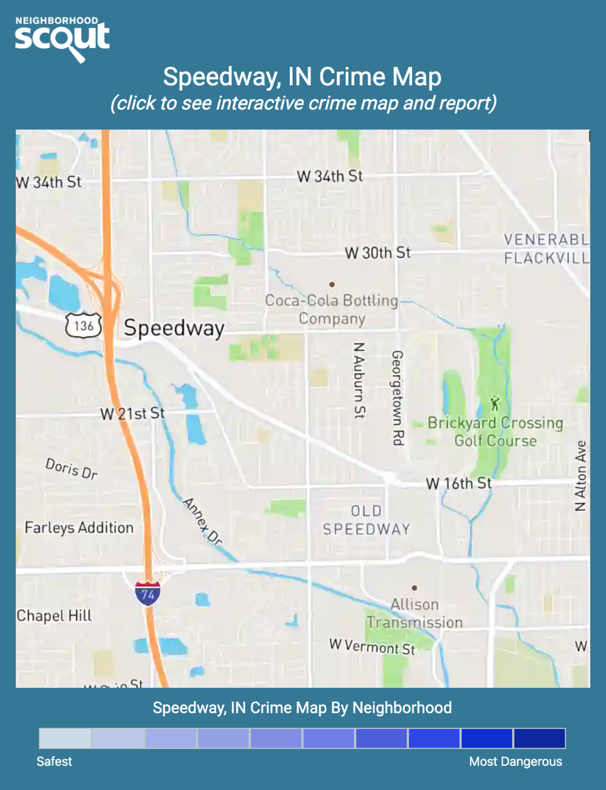 Speedway, Indiana crime map