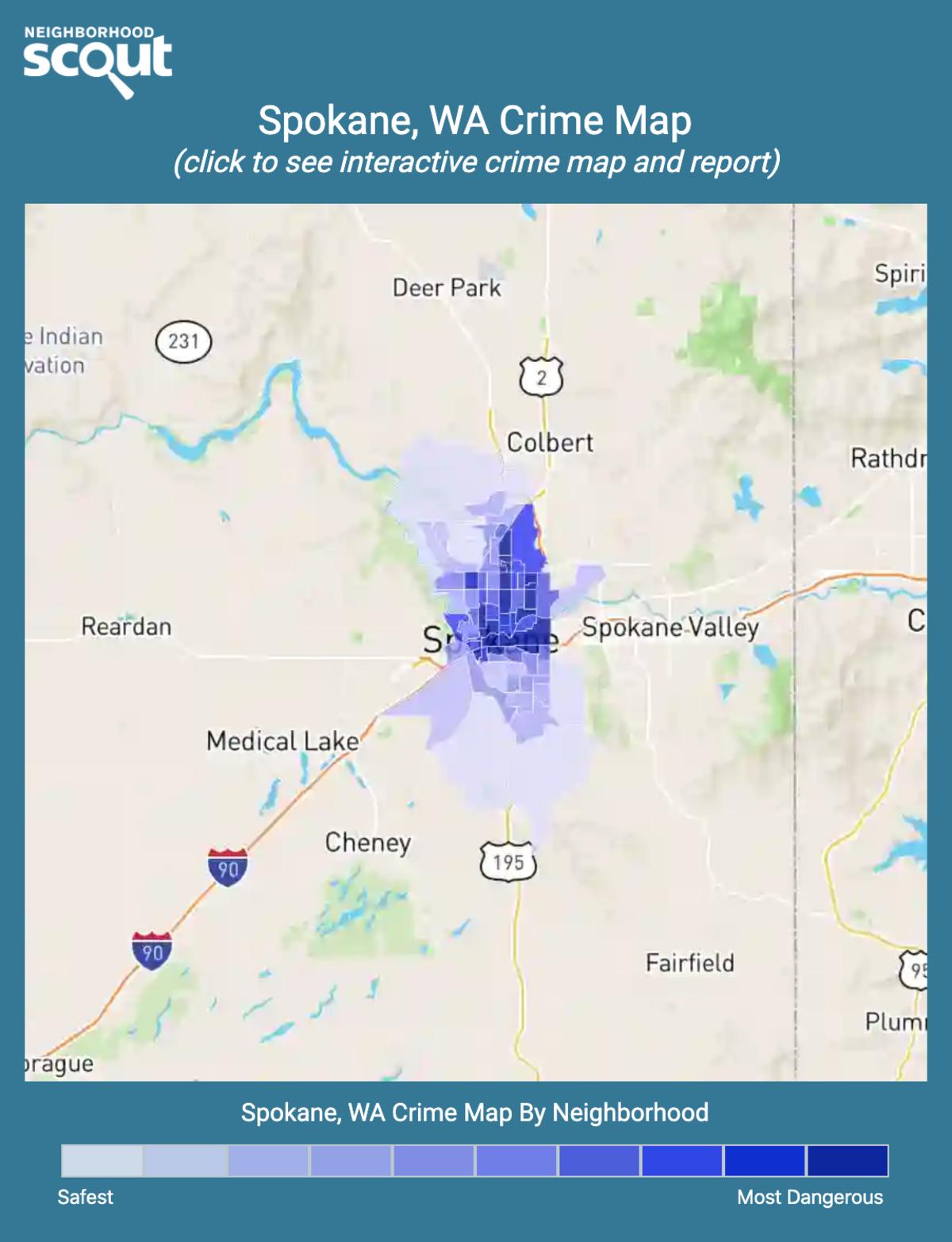 Spokane, Washington crime map