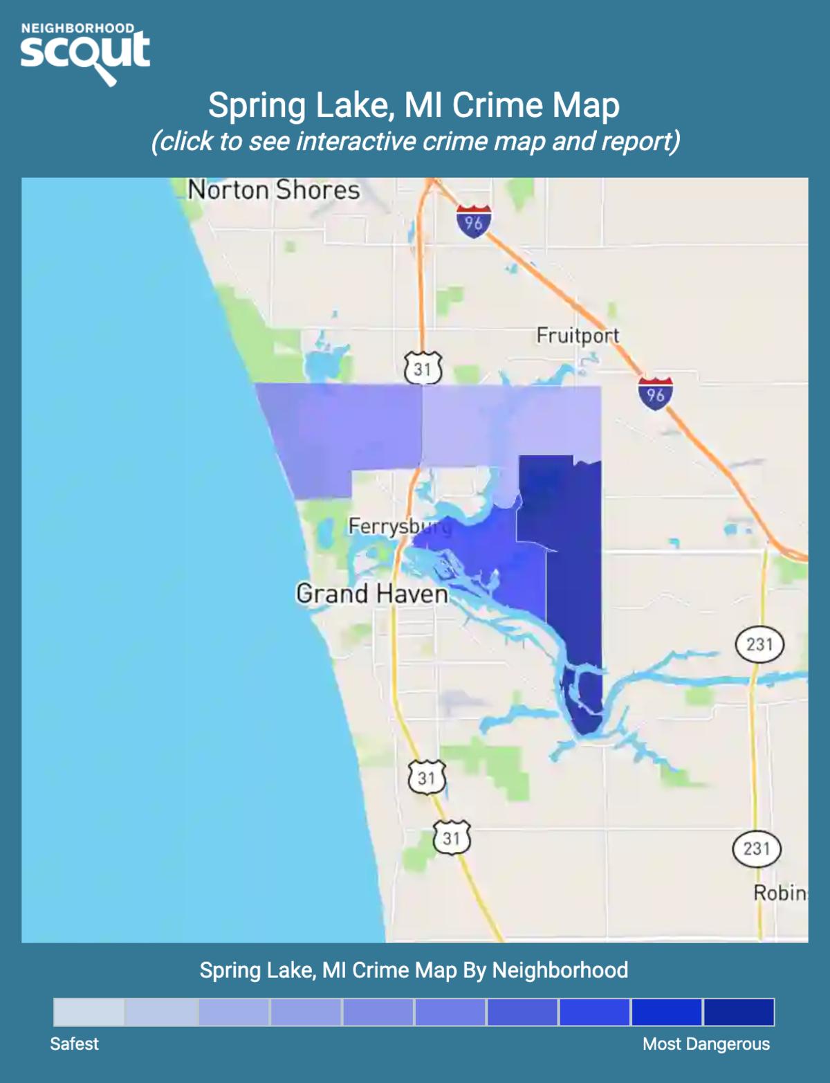 Spring Lake, Michigan crime map