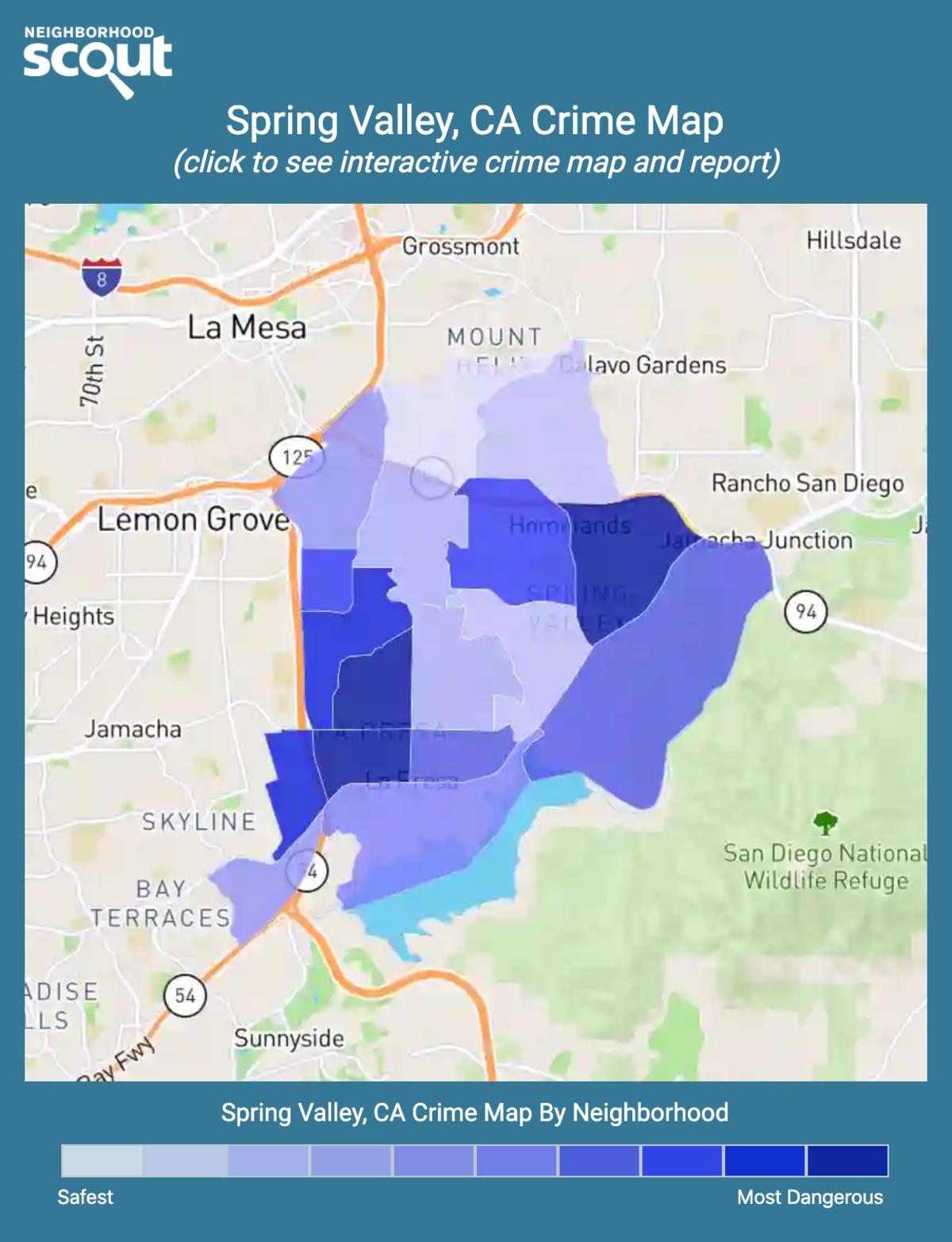 Spring Valley, California crime map
