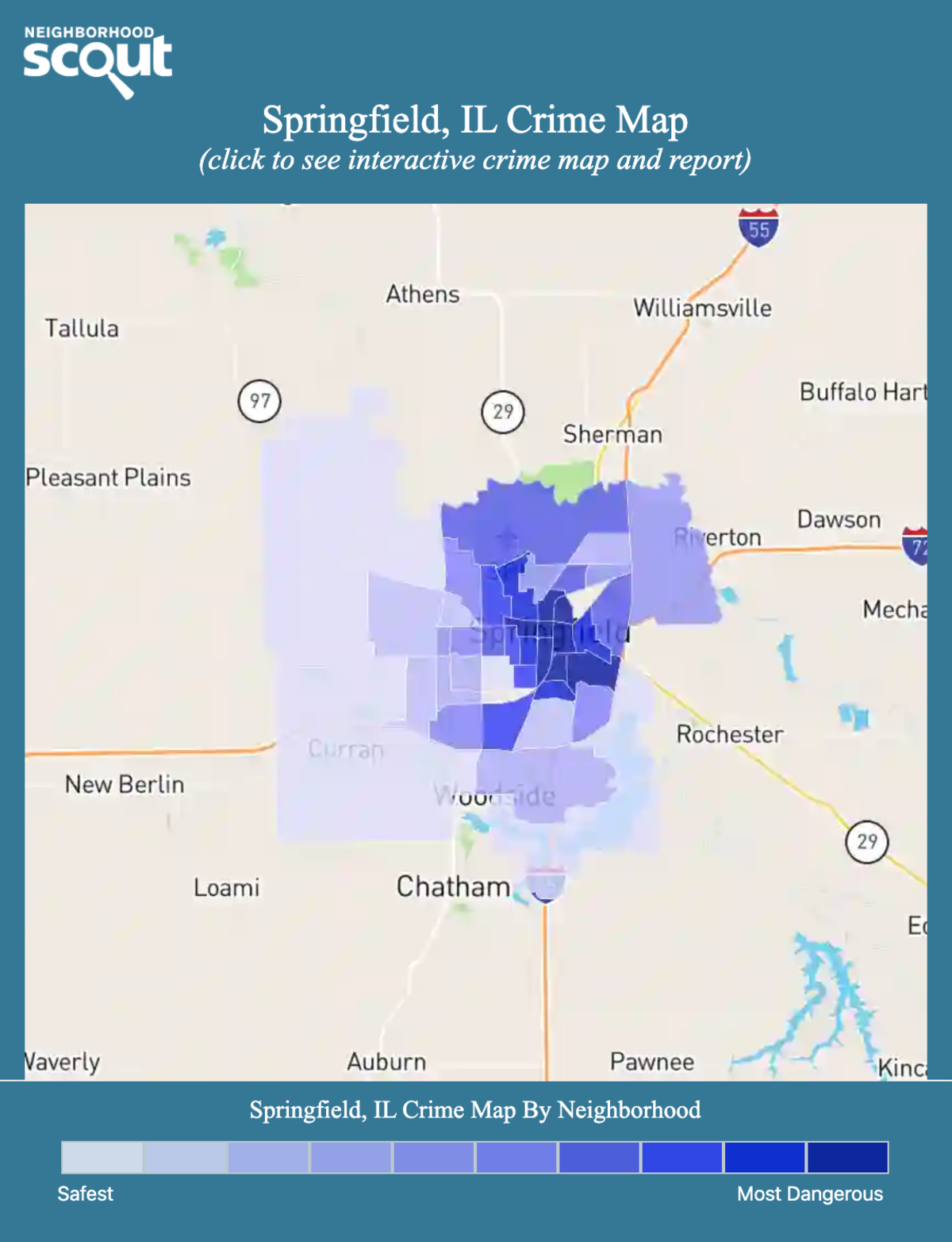 Springfield, Illinois crime map