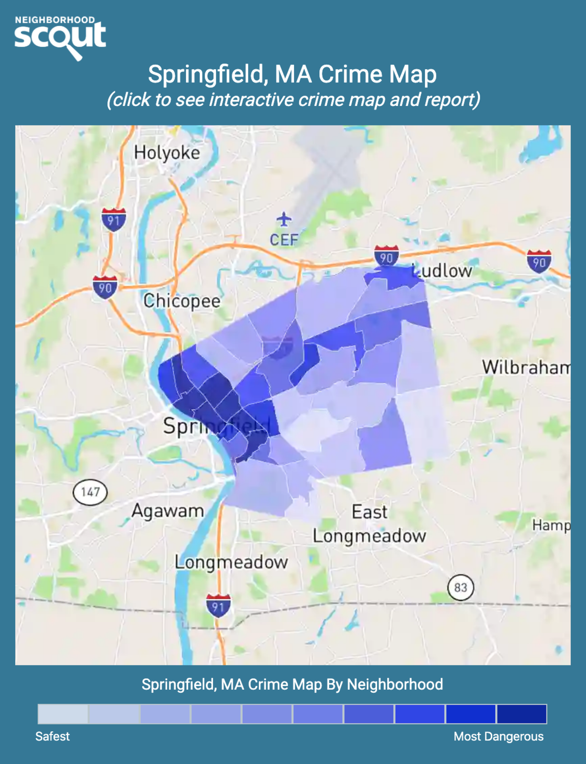 Springfield, Massachusetts crime map