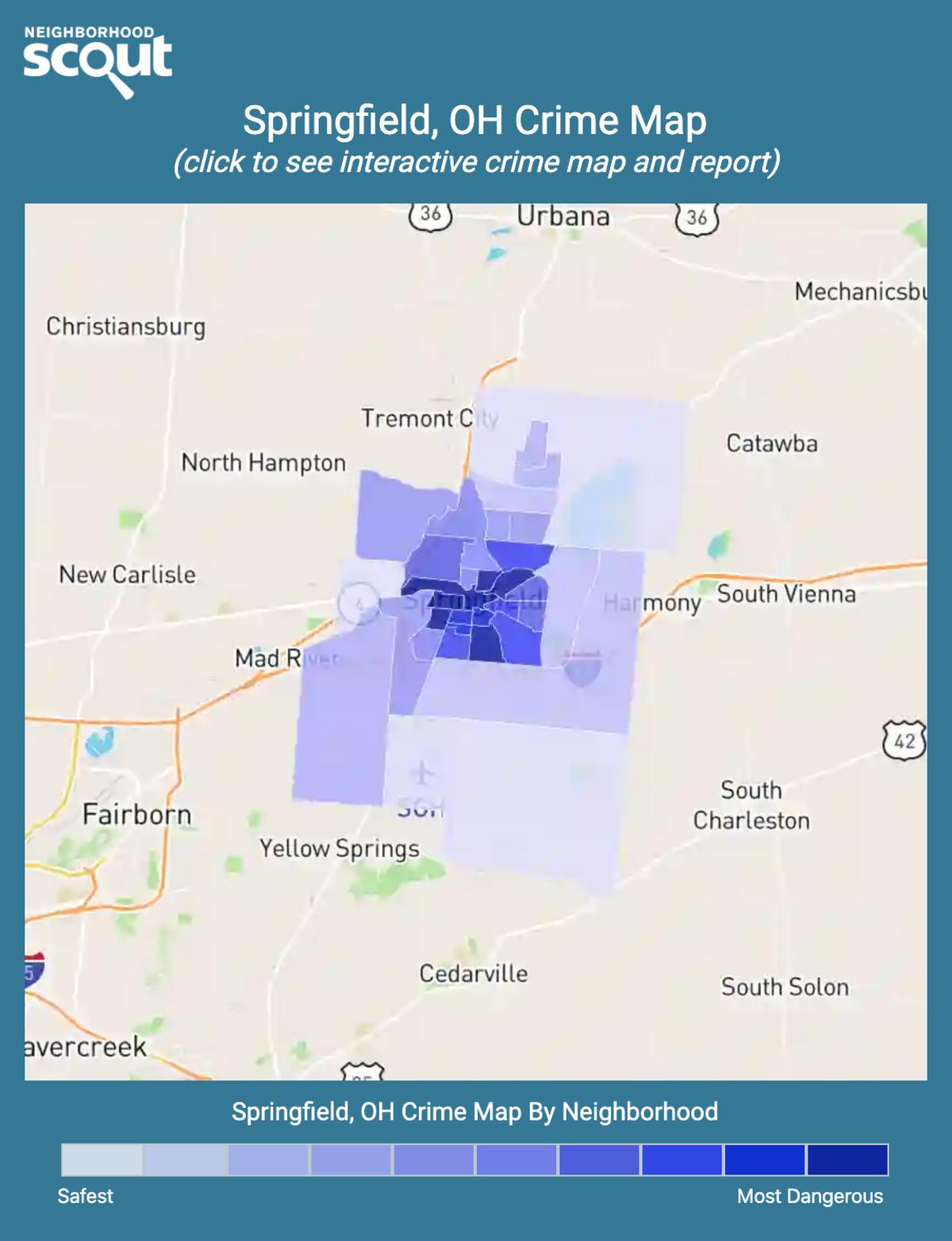 Springfield, Ohio crime map